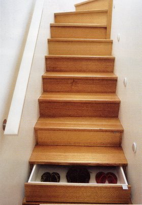shoe storage stairs