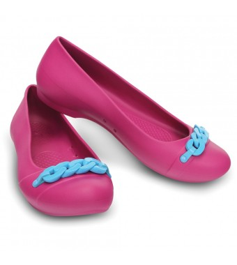 Crocs Gianna Link Flat Berry/Electric Blue