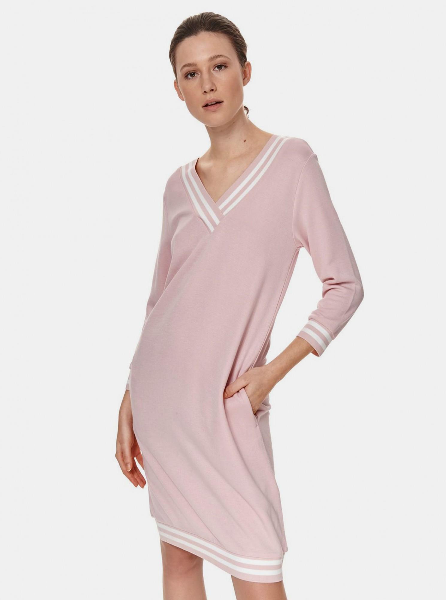 TOP SECRET růžové šaty s kapsami