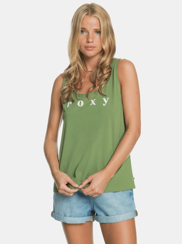 Roxy zelené tílko s potiskem