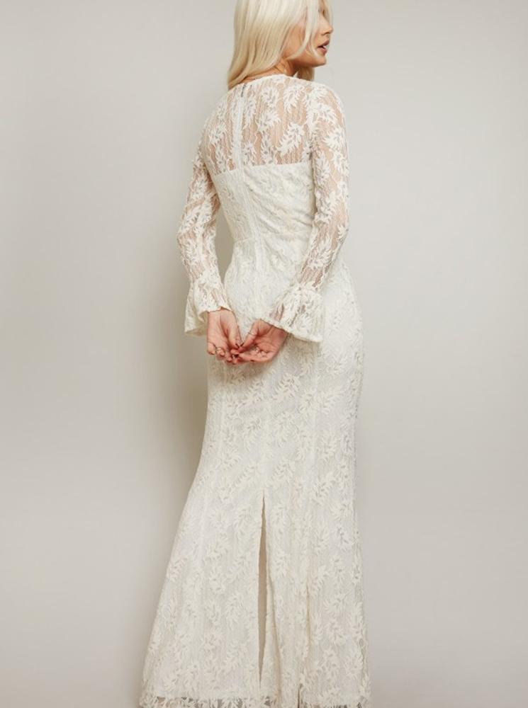 Little Mistress bílé krajkové svatební šaty