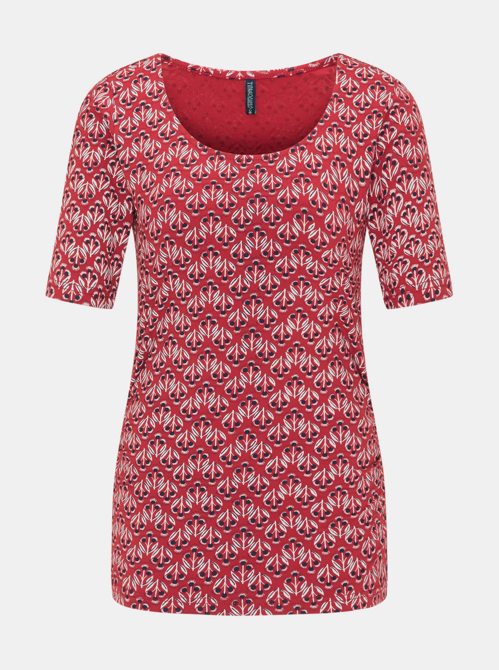 Tranquillo červené tričko se vzorem