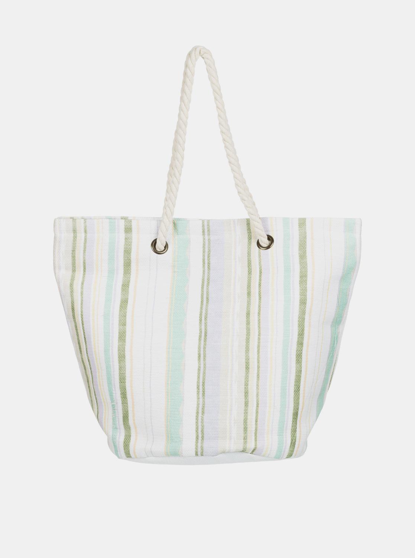Roxy bílo-zelená plážová taška