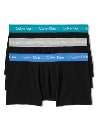 Calvin Klein černé boxerky 3 pack Low Rise Trunks