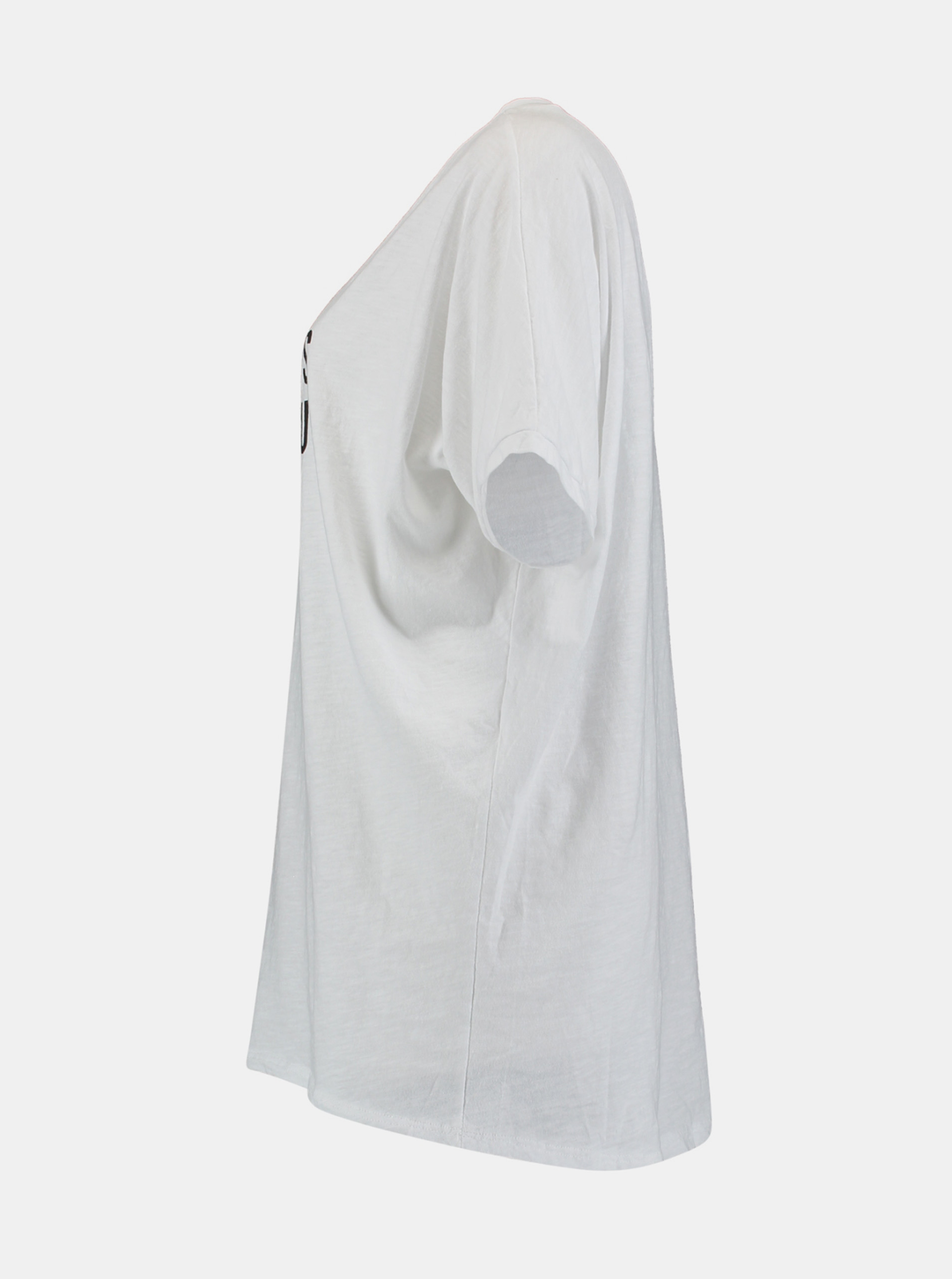 Hailys bílé tričko s potiskem