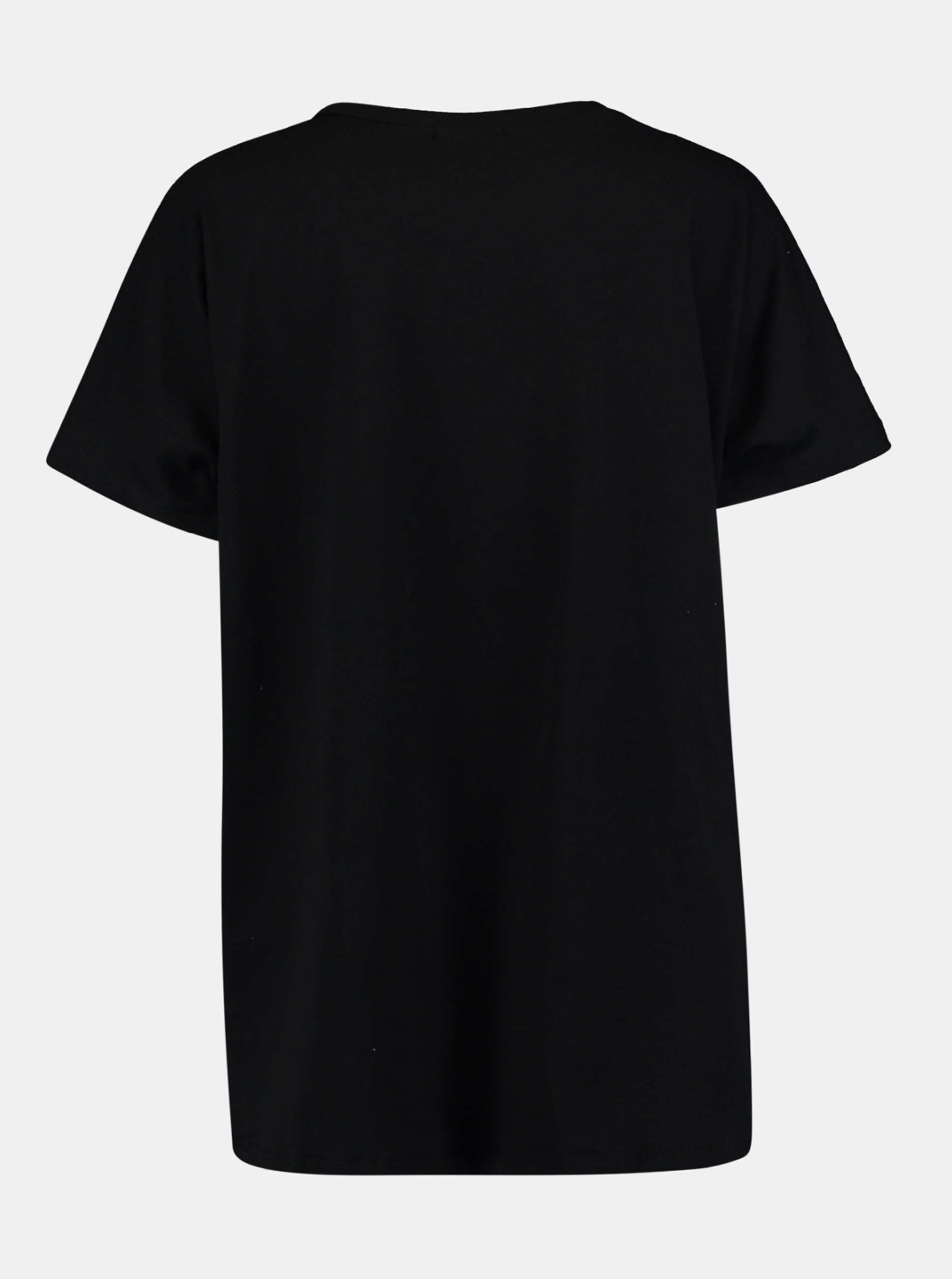 Hailys černé tričko s potiskem