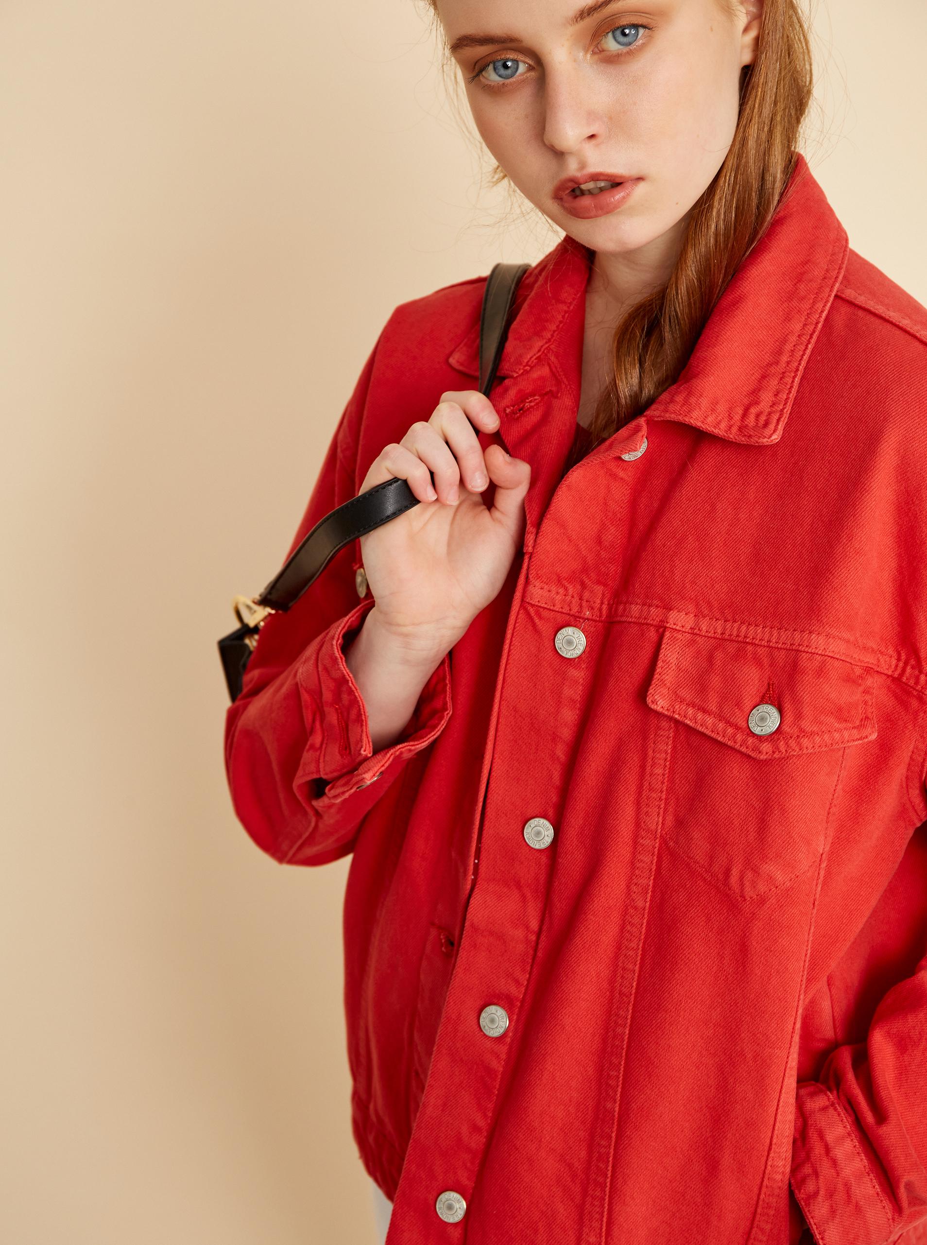 ZOOT červená puntíkovaná halenka Tina