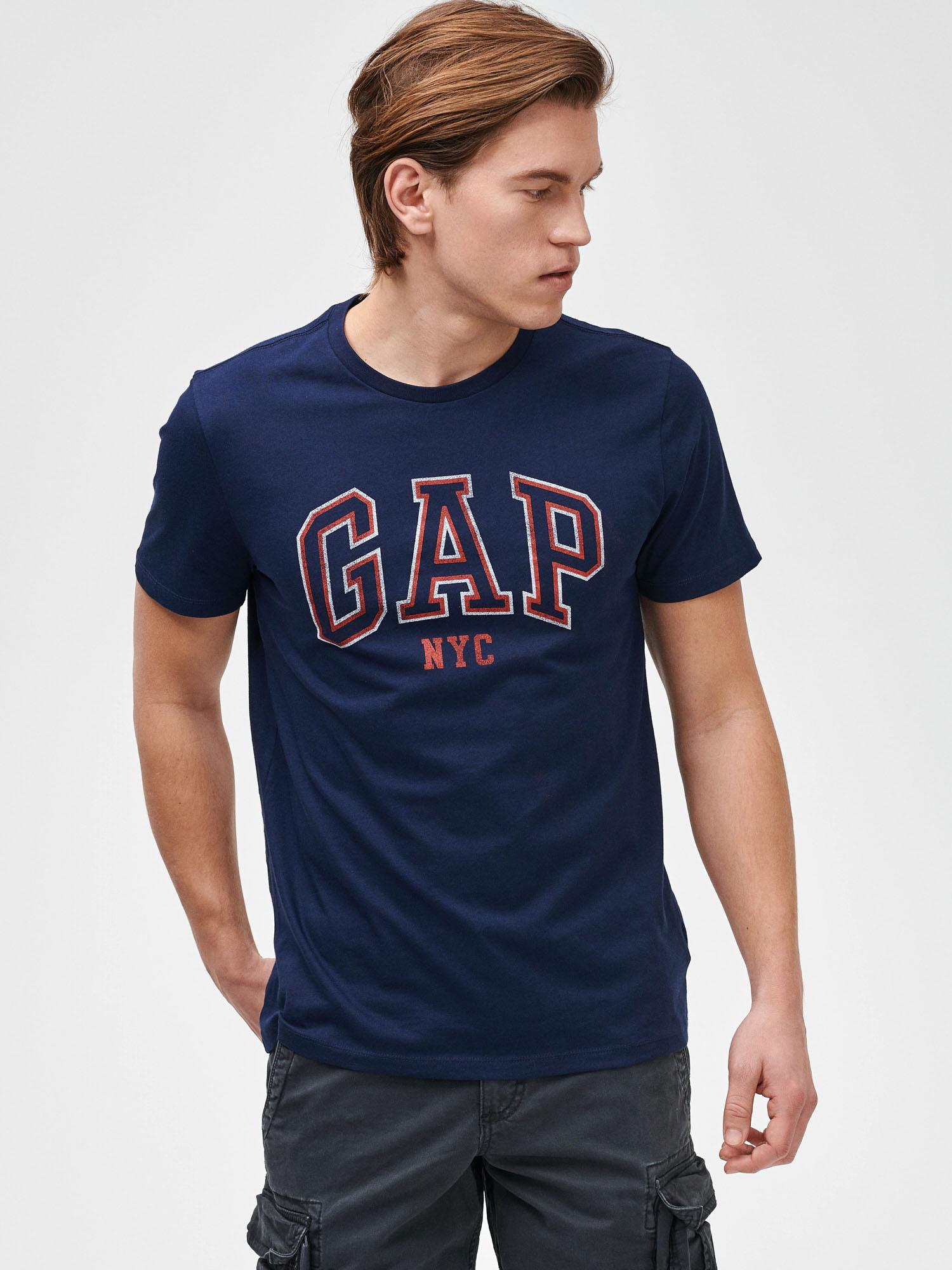 GAP modré pánské tričko Logo City - M