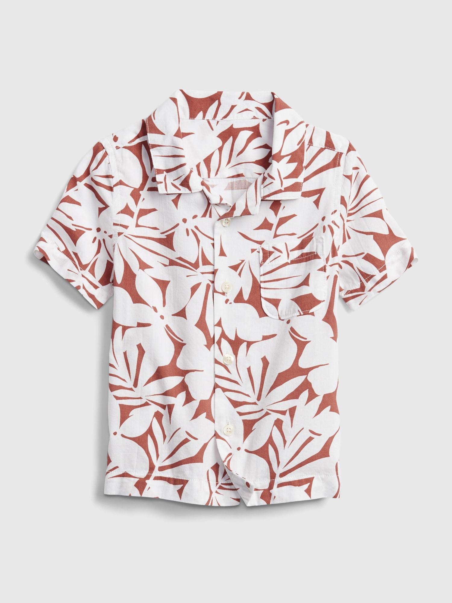 Červená klučičí dětská košile shirt GAP