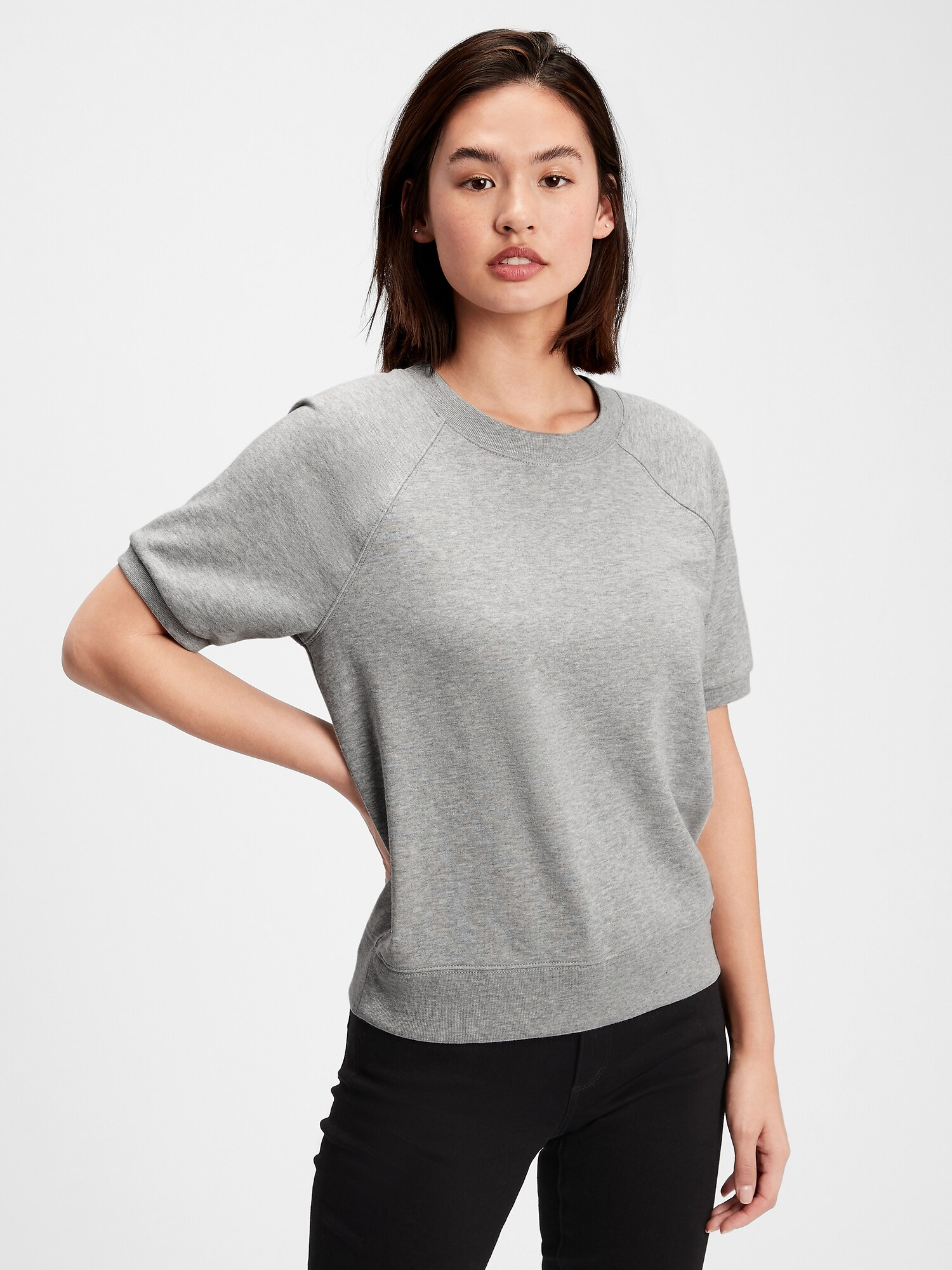 GAP šedé tričko Fleece