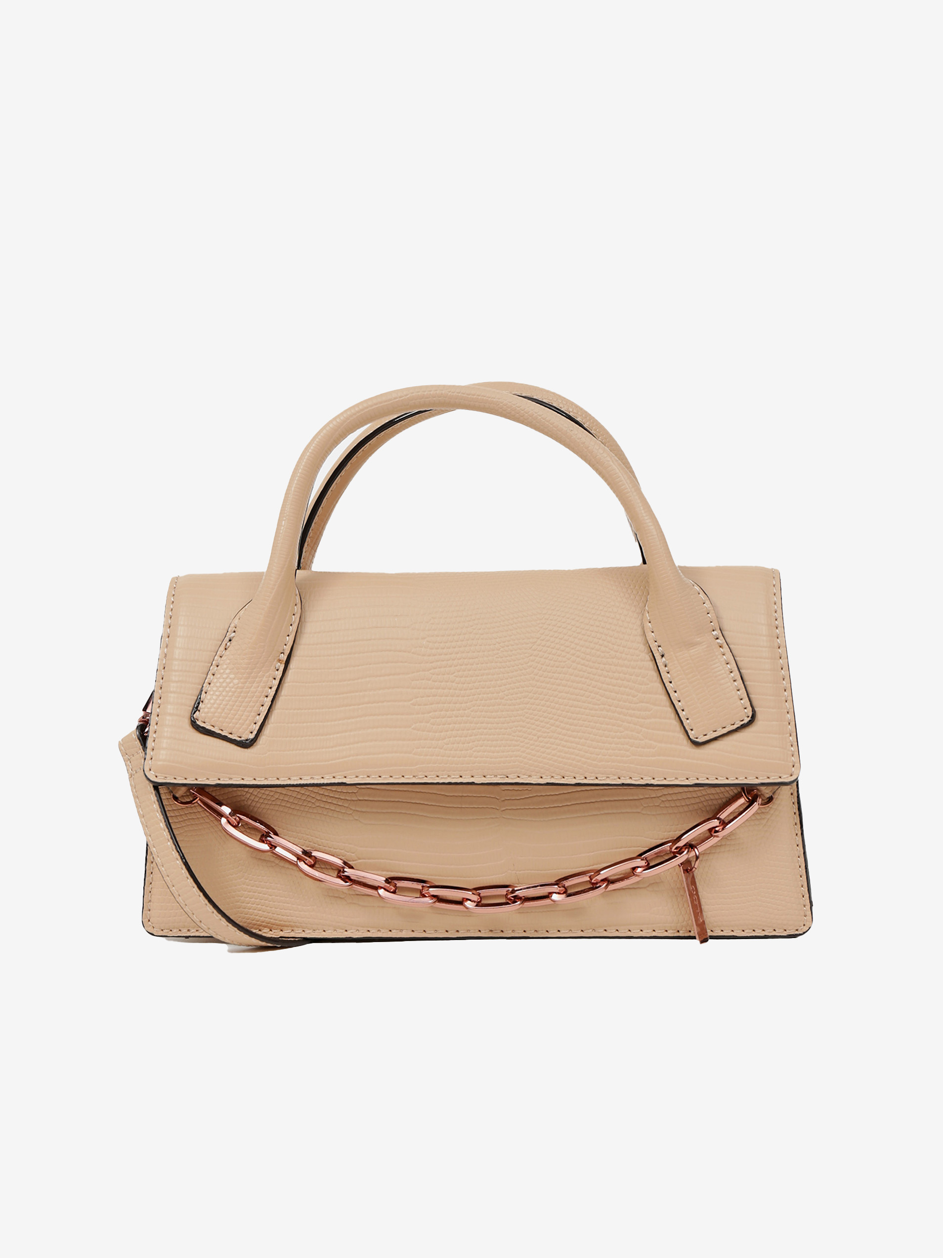 Béžová kabelka s ozdobným řetízkem ALDO Buria
