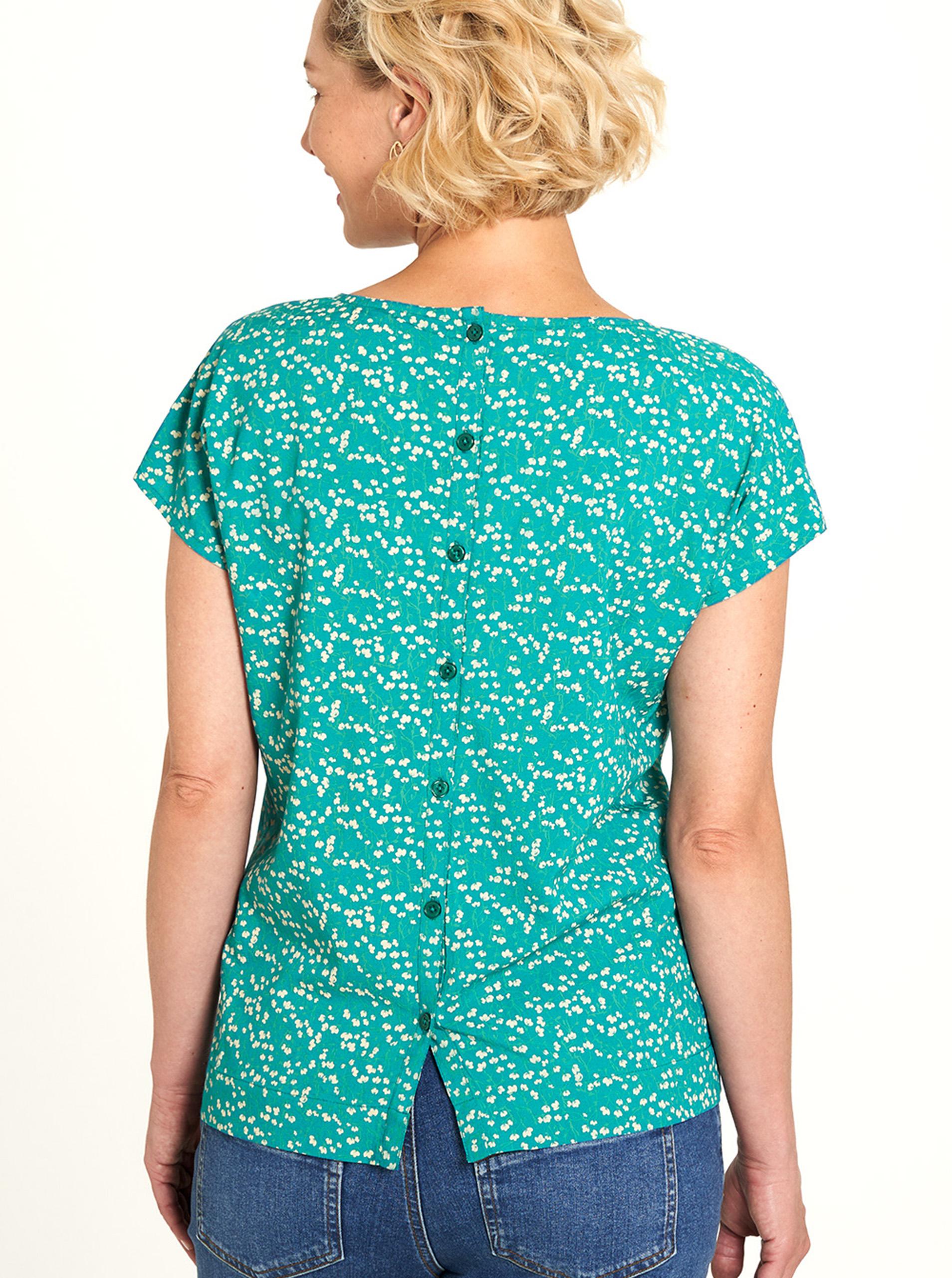 Tranquillo tyrkysové tričko s květinovým motivem