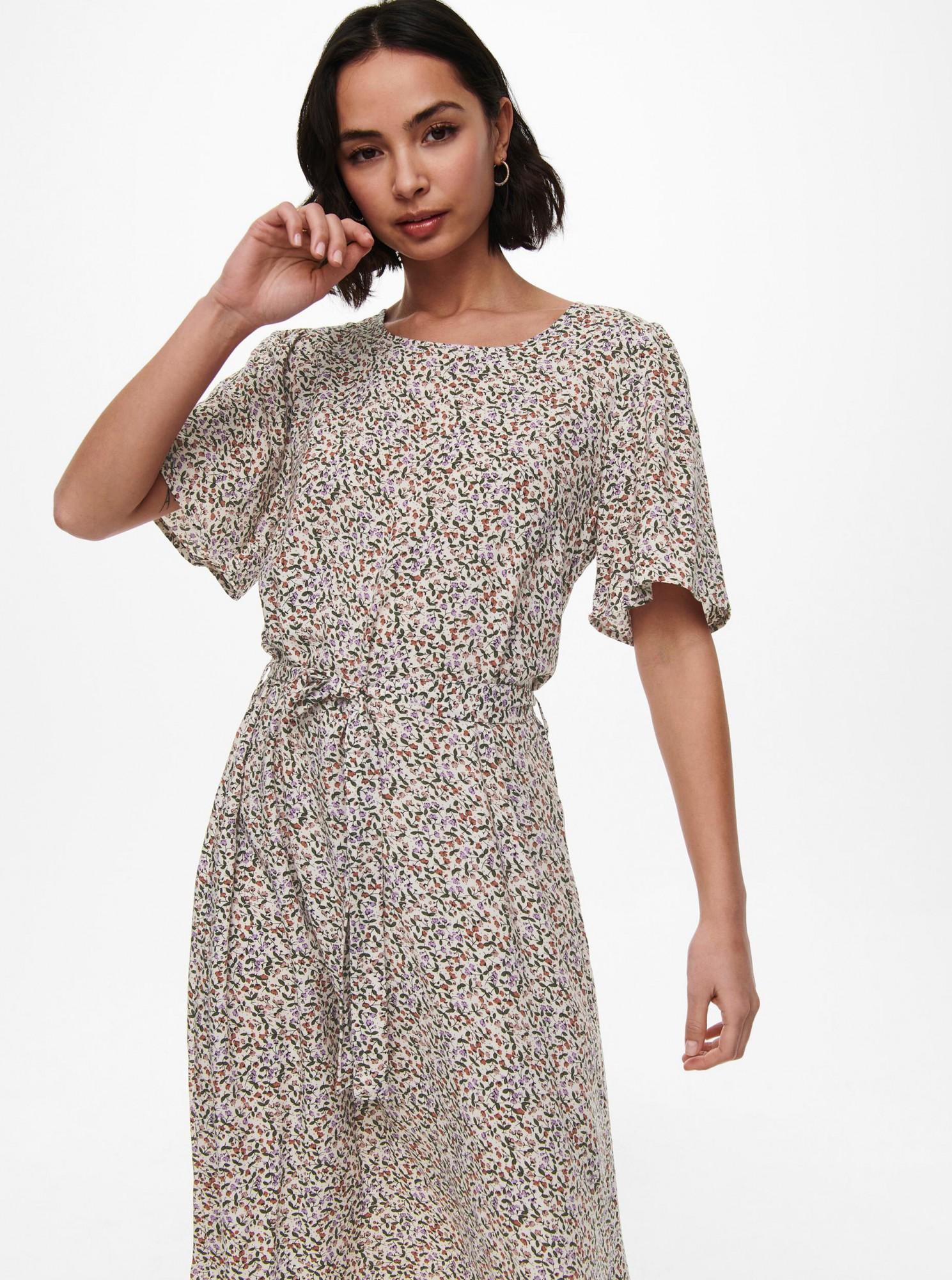 Jacqueline de Yong krémové květované šaty