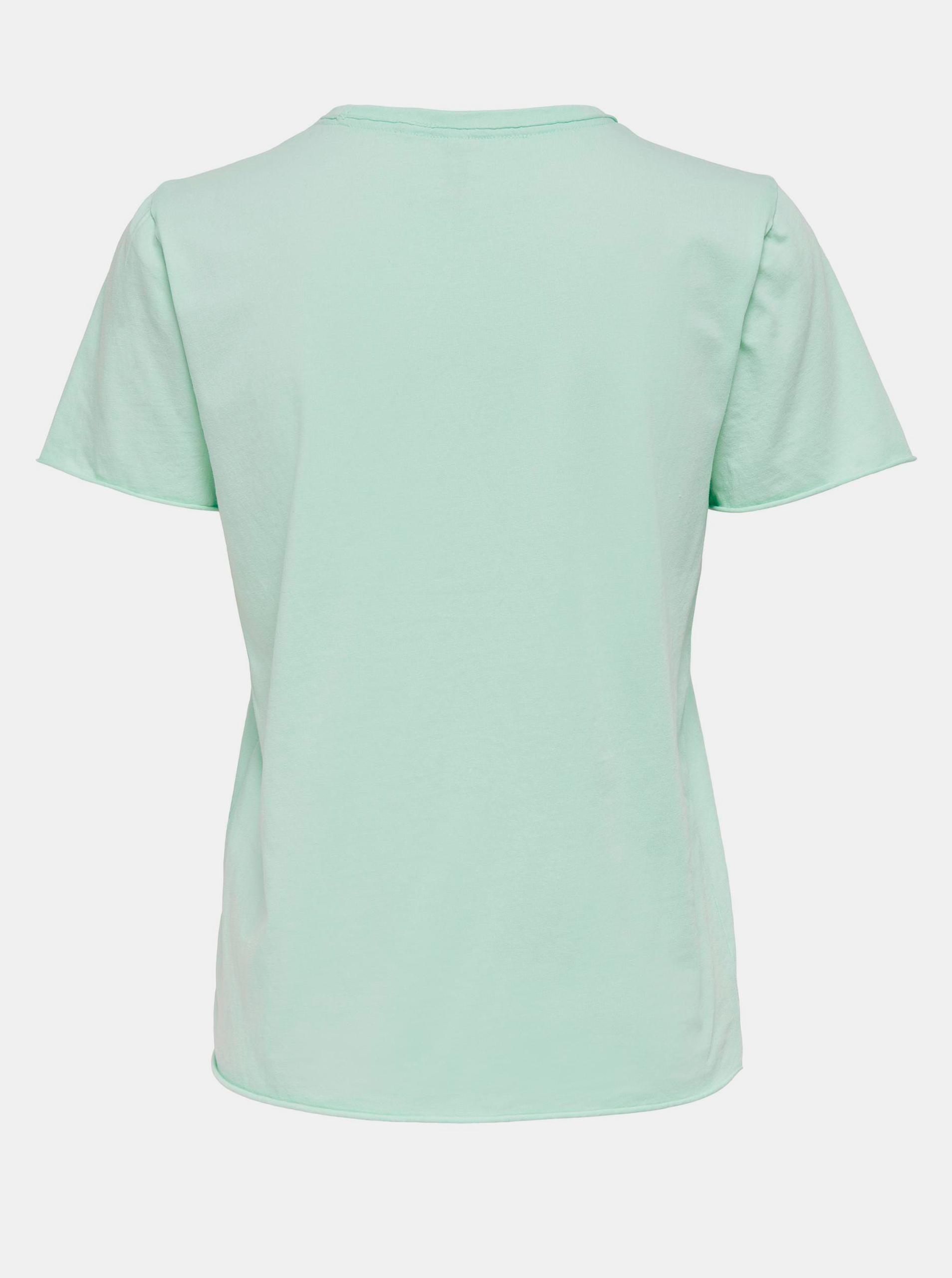 Only světle zelené basic dámské tričko Fruity
