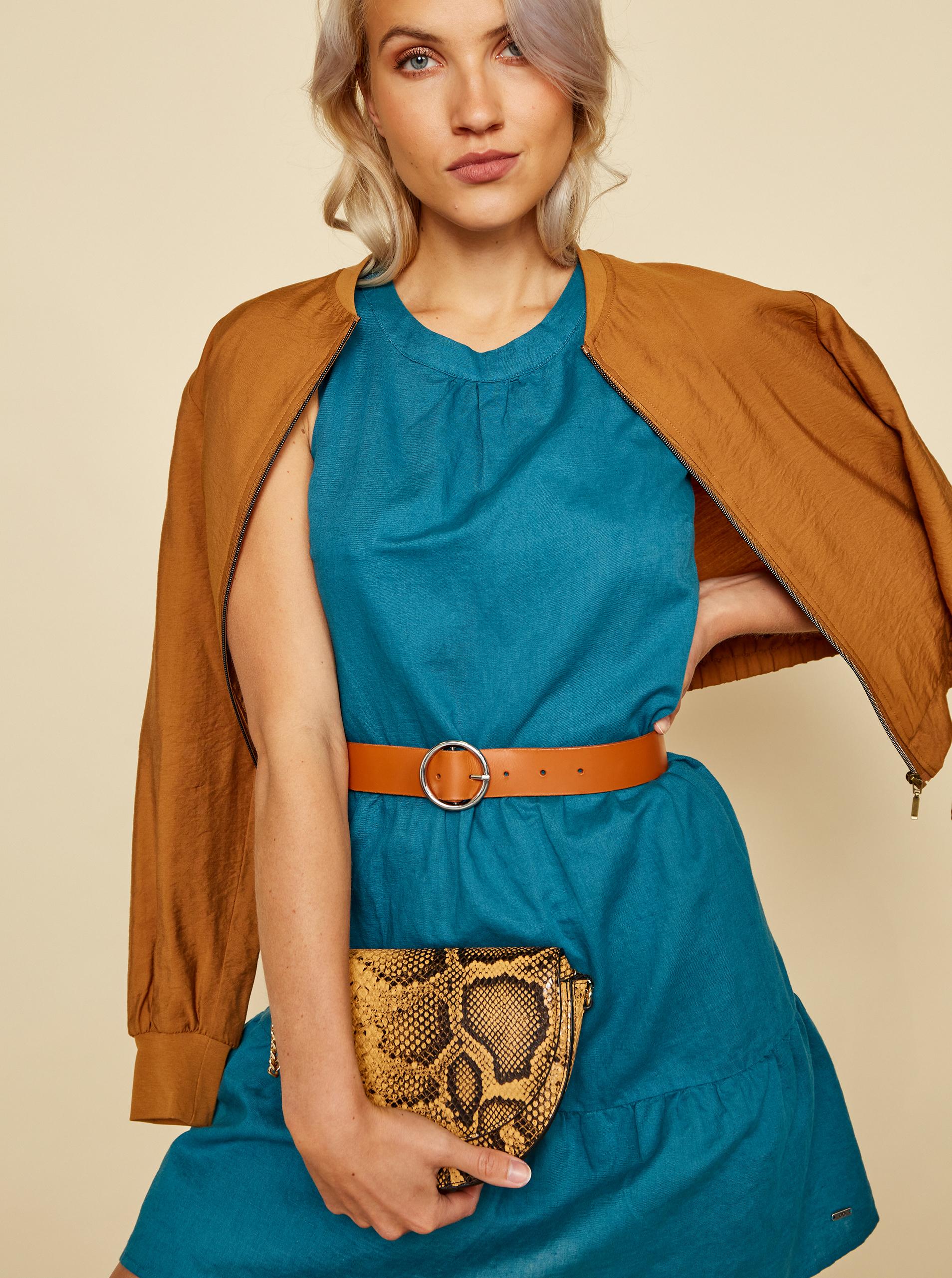 ZOOT modré lněné šaty Priti