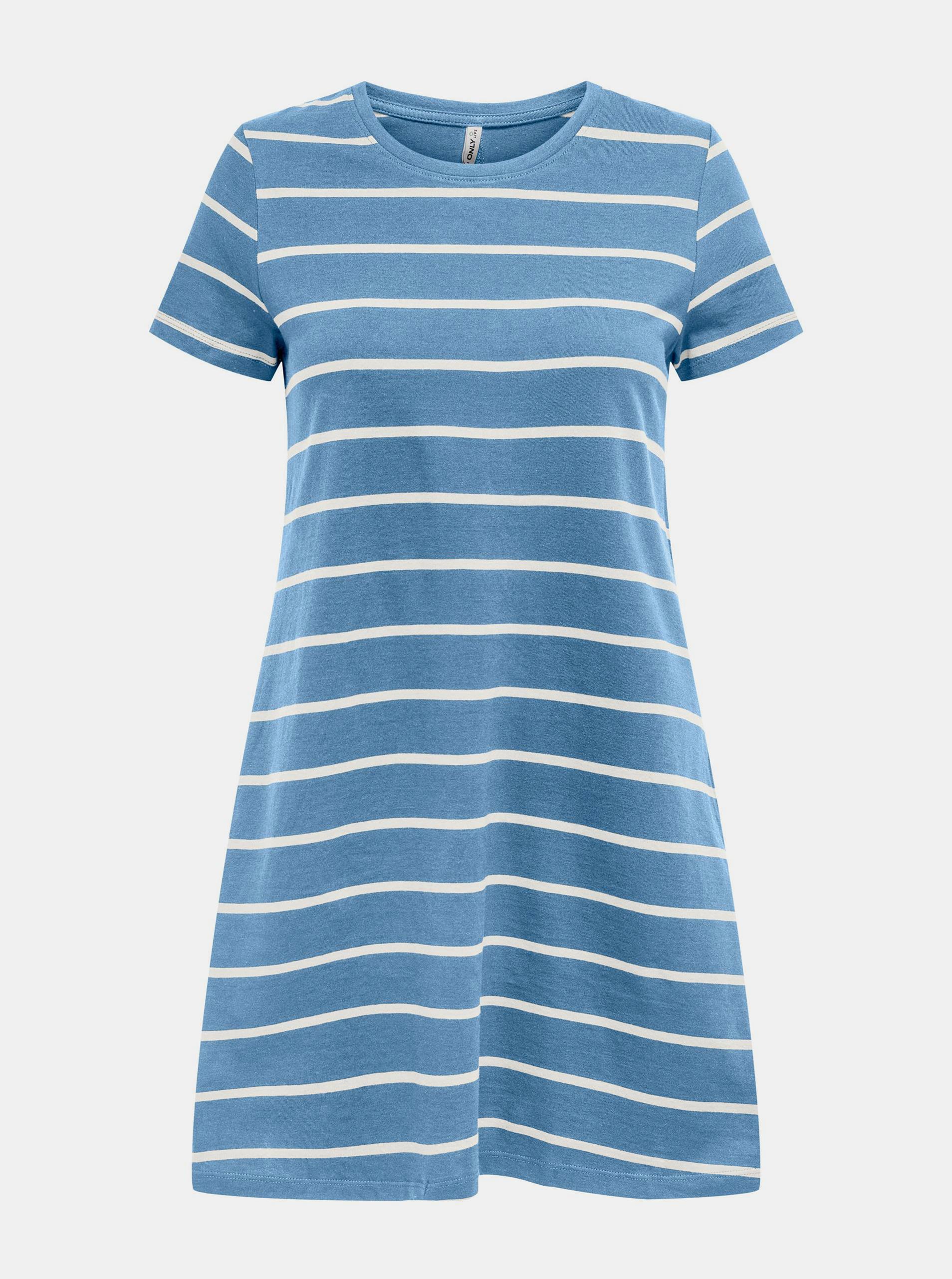 Only modré pruhované šaty May