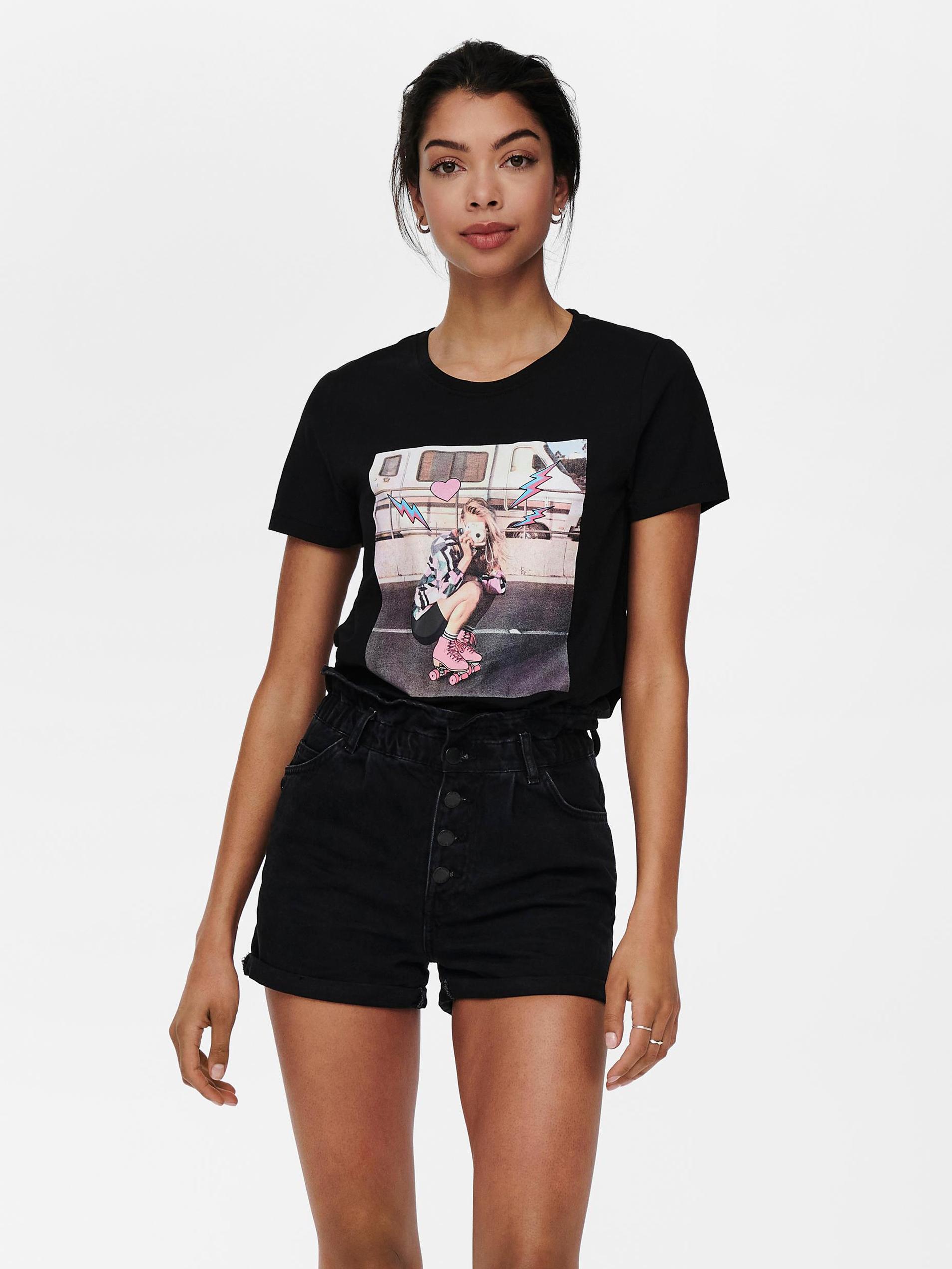 Only černé dámské tričko Lana