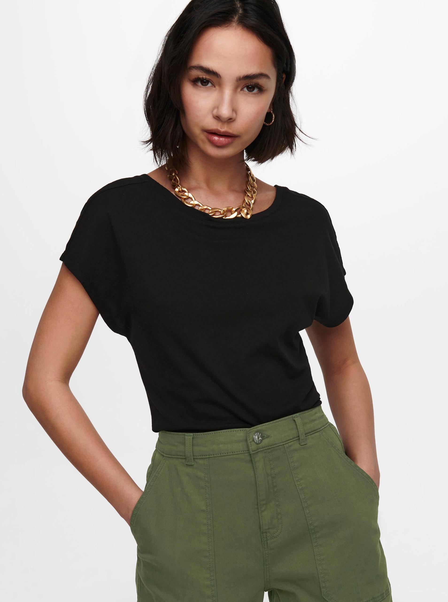 Only černé dámské tričko Ama