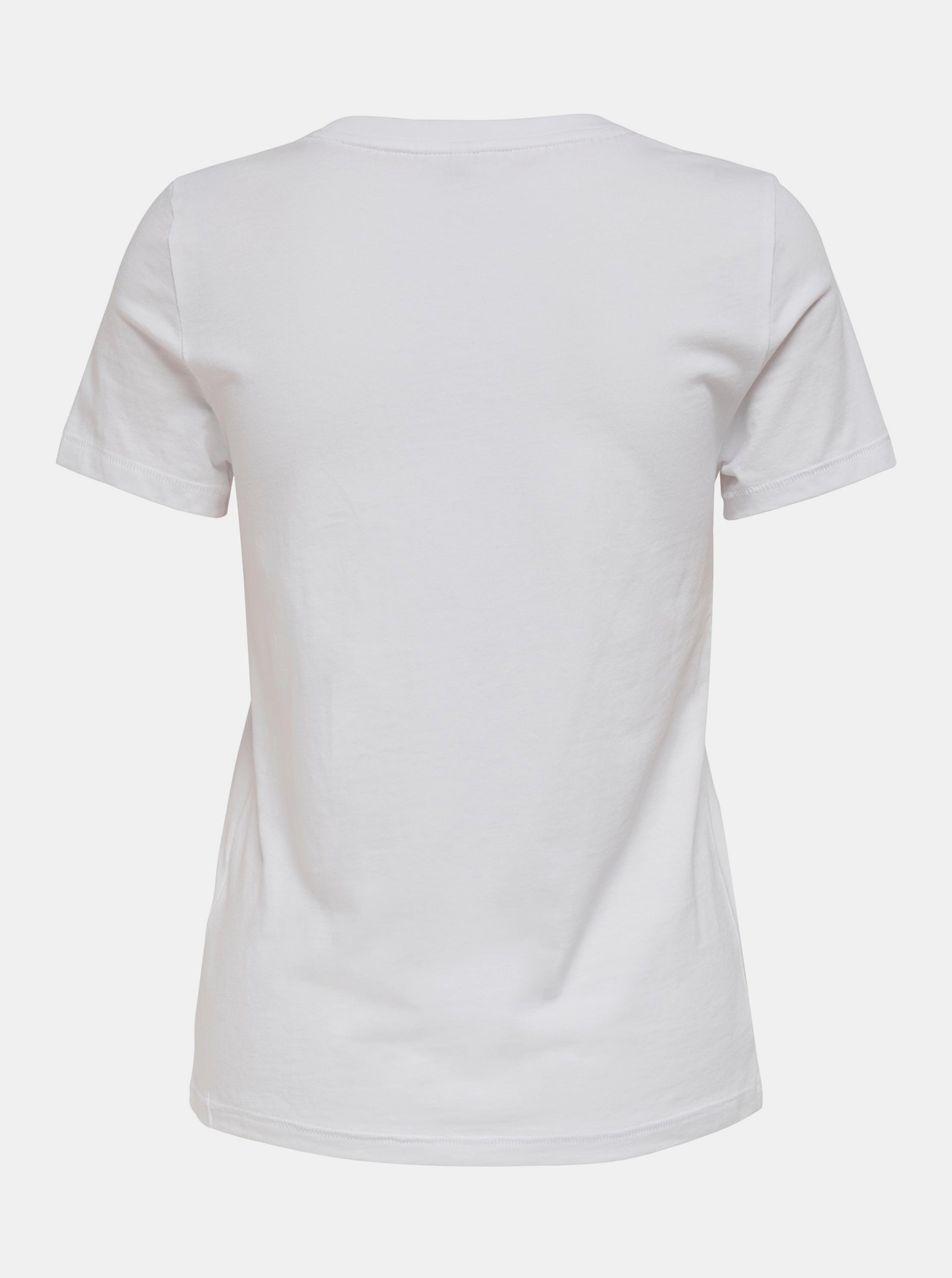 Only bílé dámské tričko Lana s potiskem