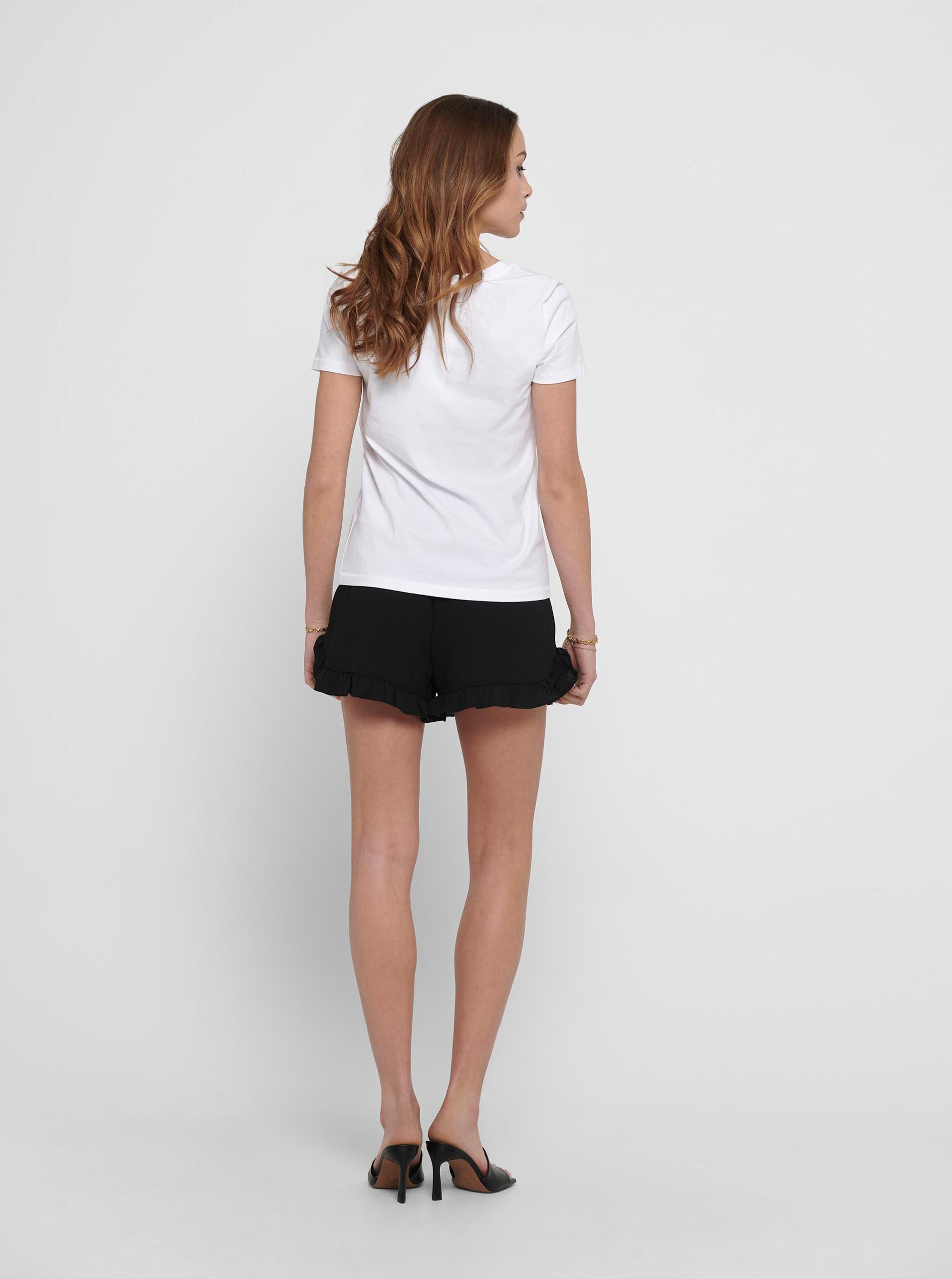 Only bílé dámské tričko Kita s potiskem