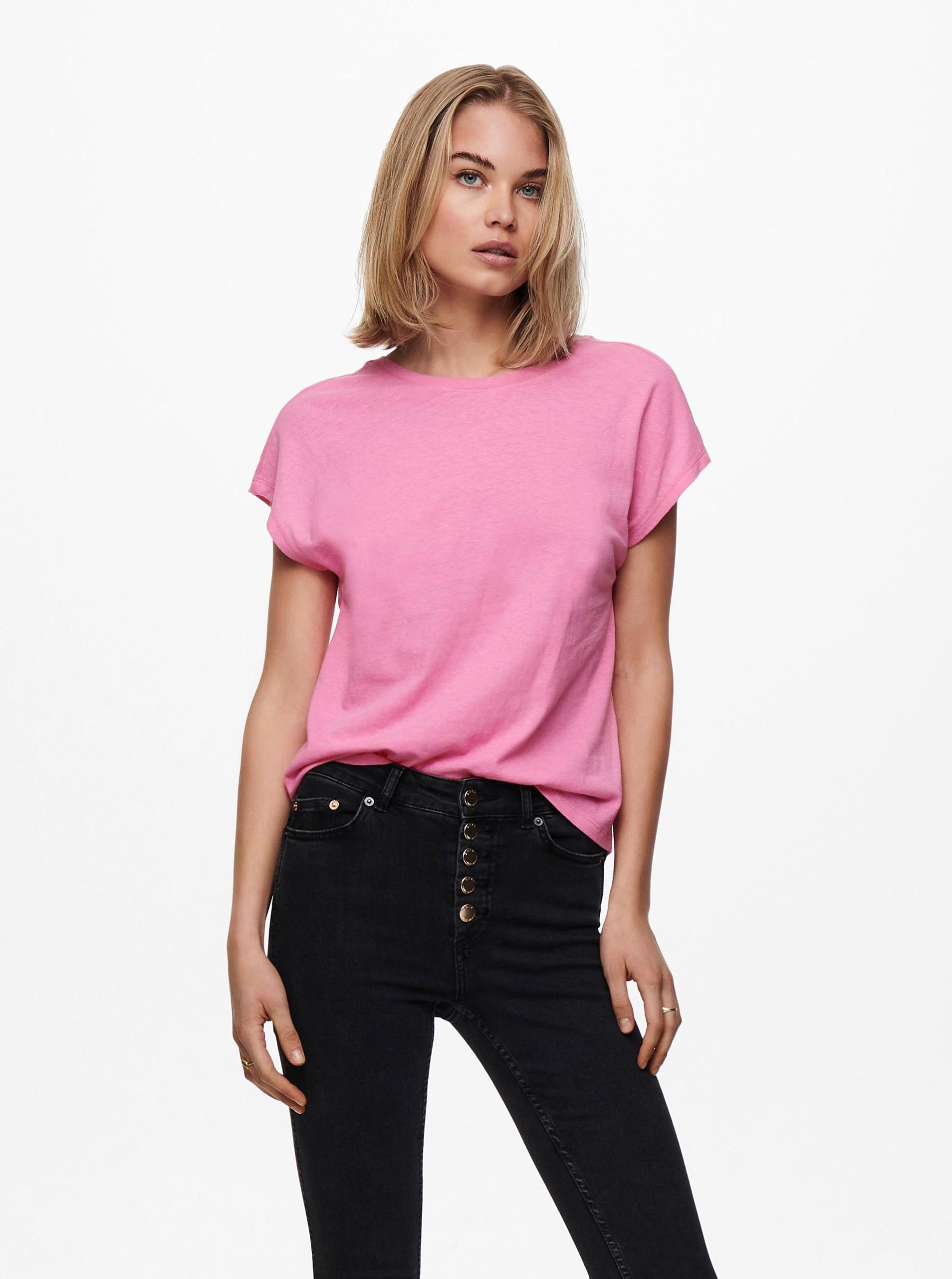 Only růžové dámské tričko Ama