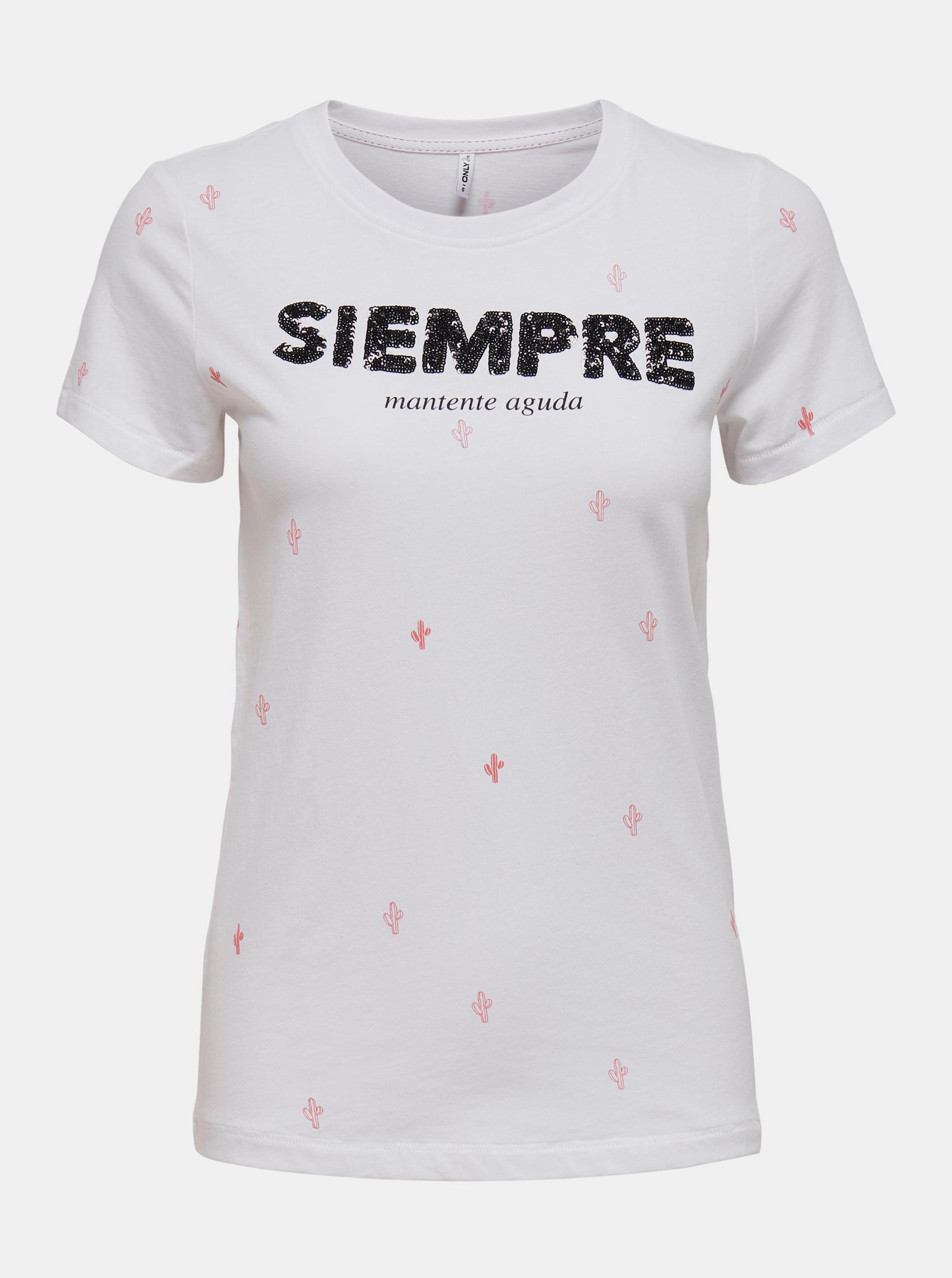 Only bílé dámské tričko Kita