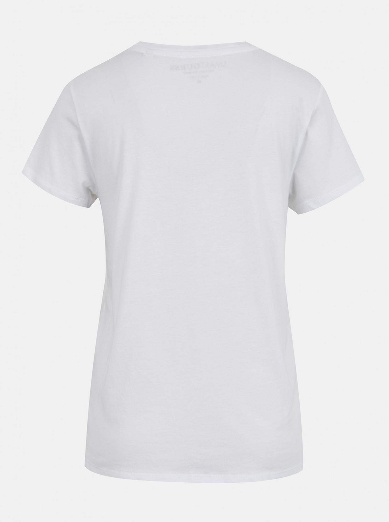 Guess bílé tričko Odette Tee s potiskem