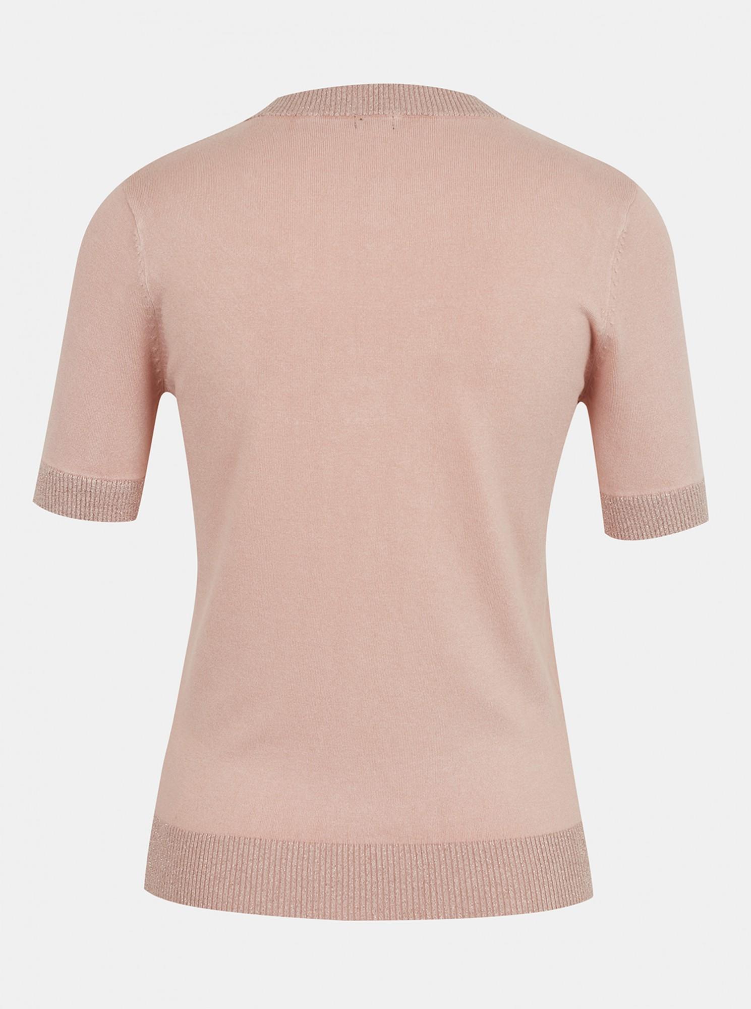Guess pudrové tričko Guess Clarisse