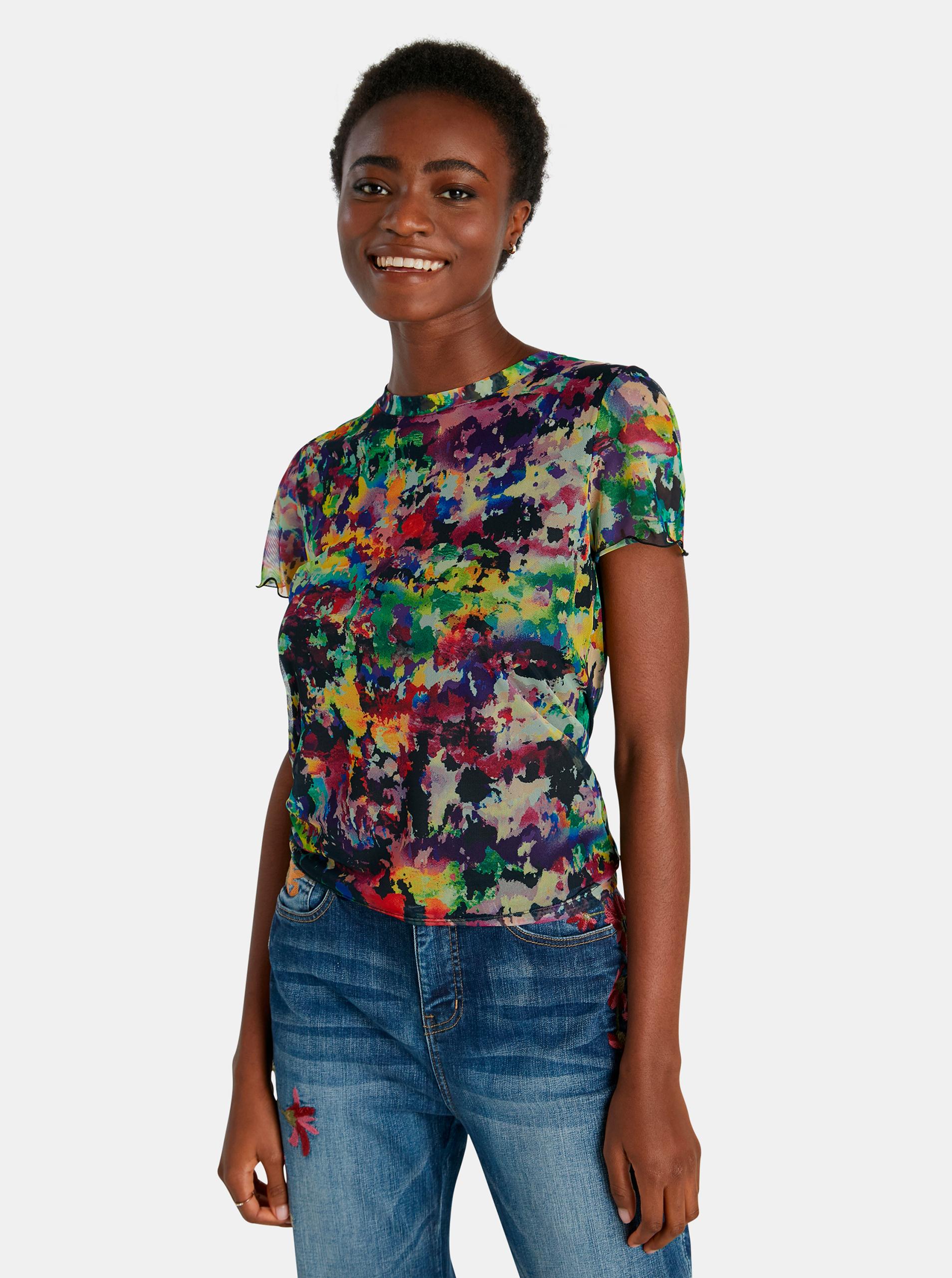 Desigual barevné tričko Eloisse