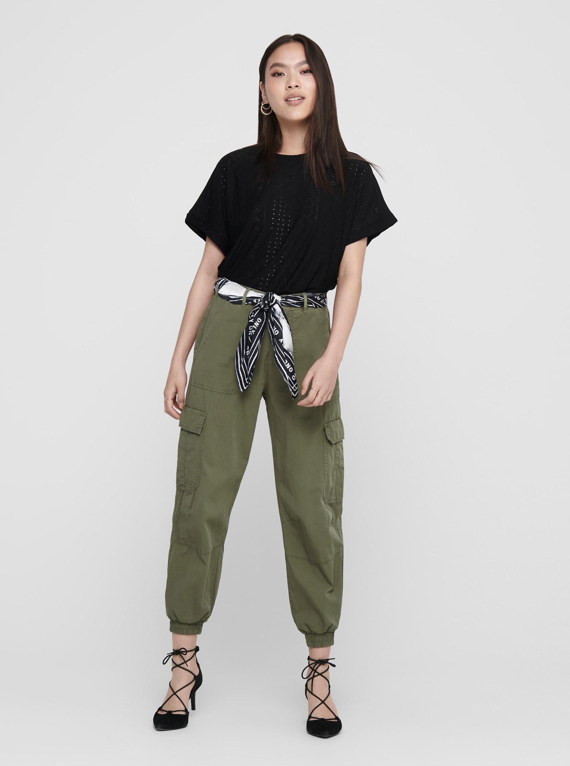 Jacqueline de Yong černé tričko Fatinka