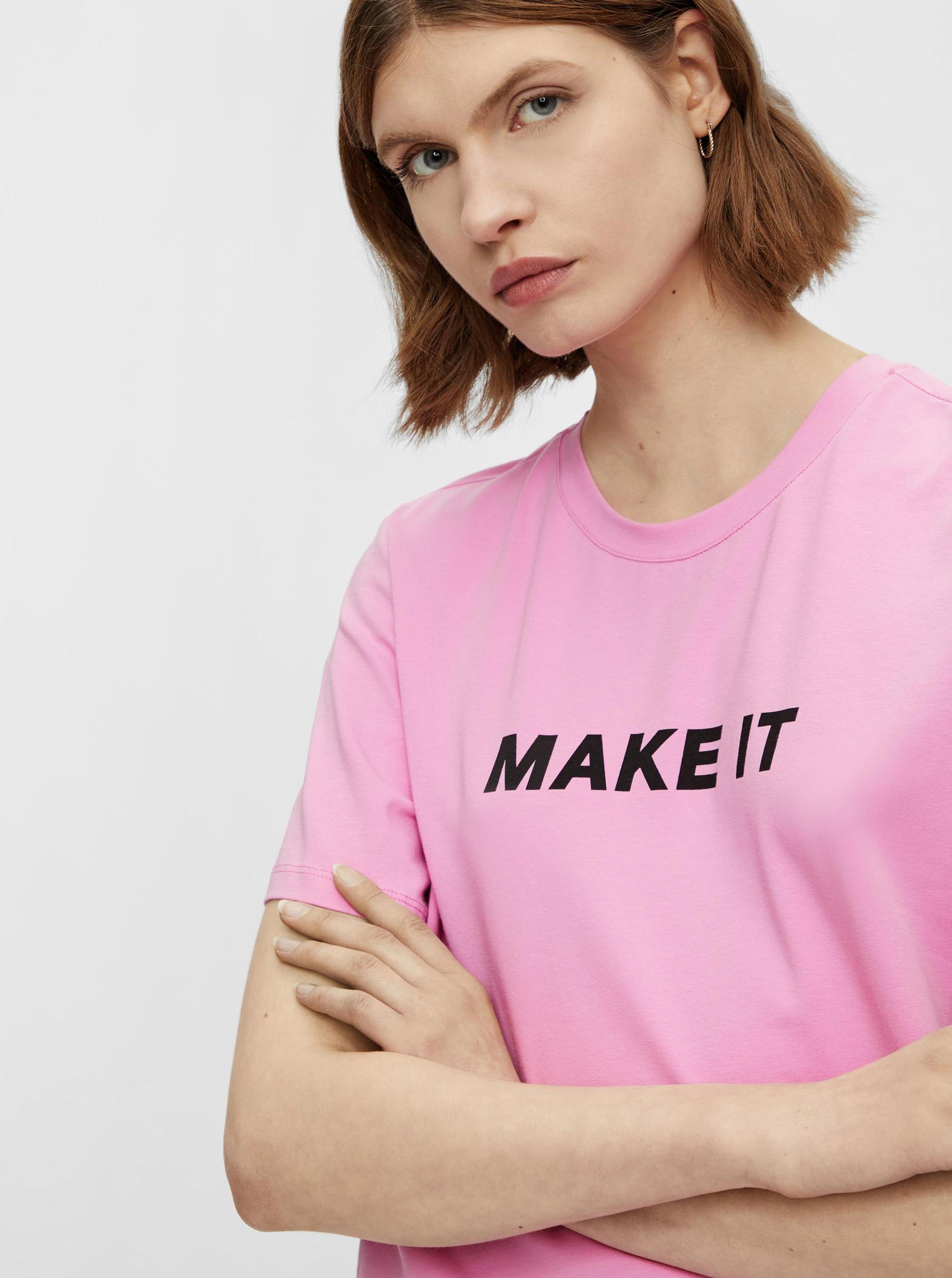 Pieces růžové tričko Niru