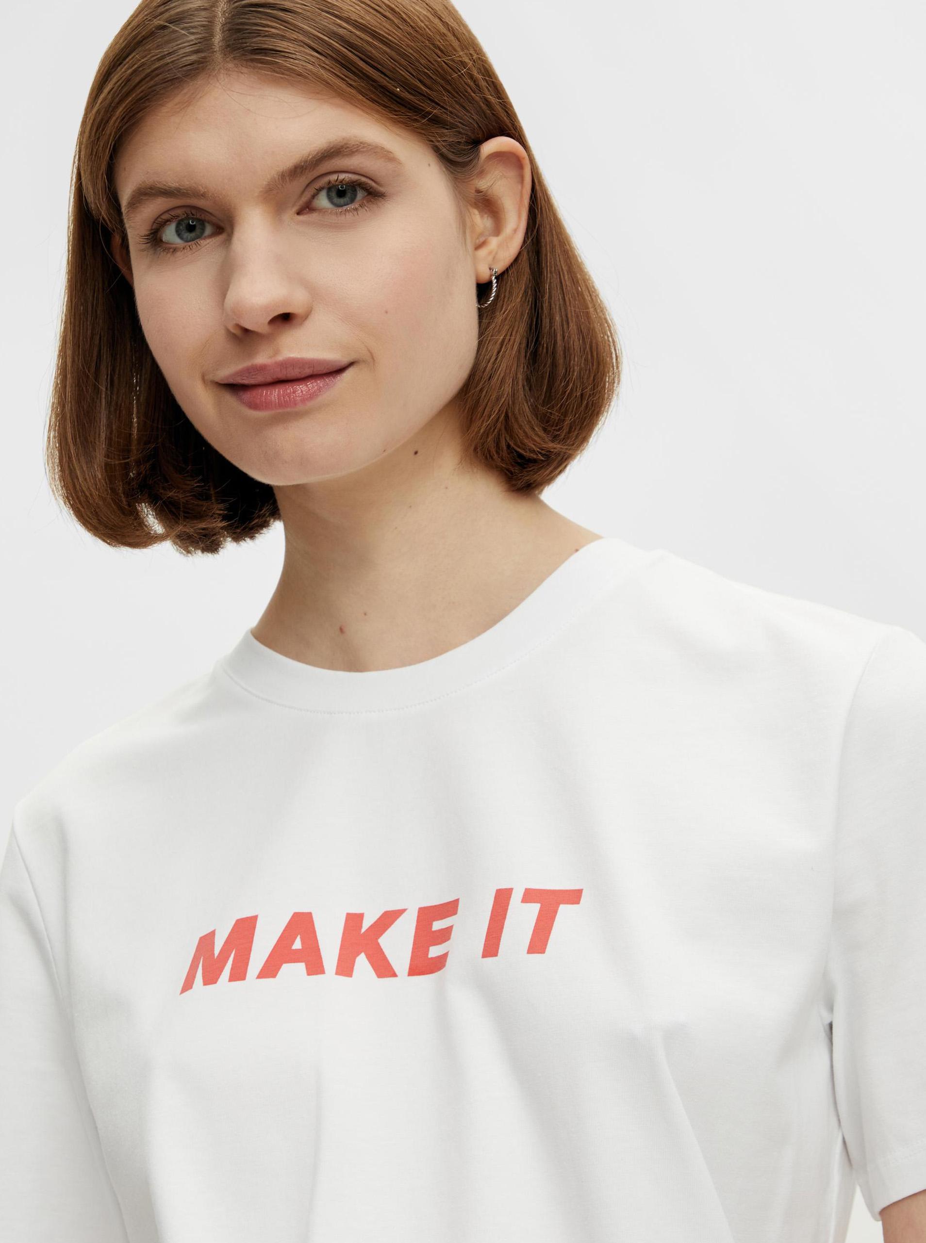 Pieces bílé tričko Niru