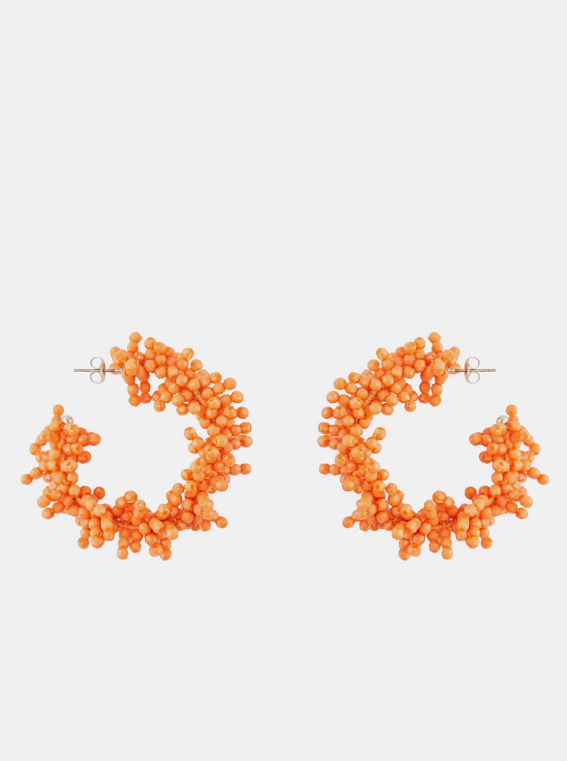 Pieces oranžové náušnice Teads