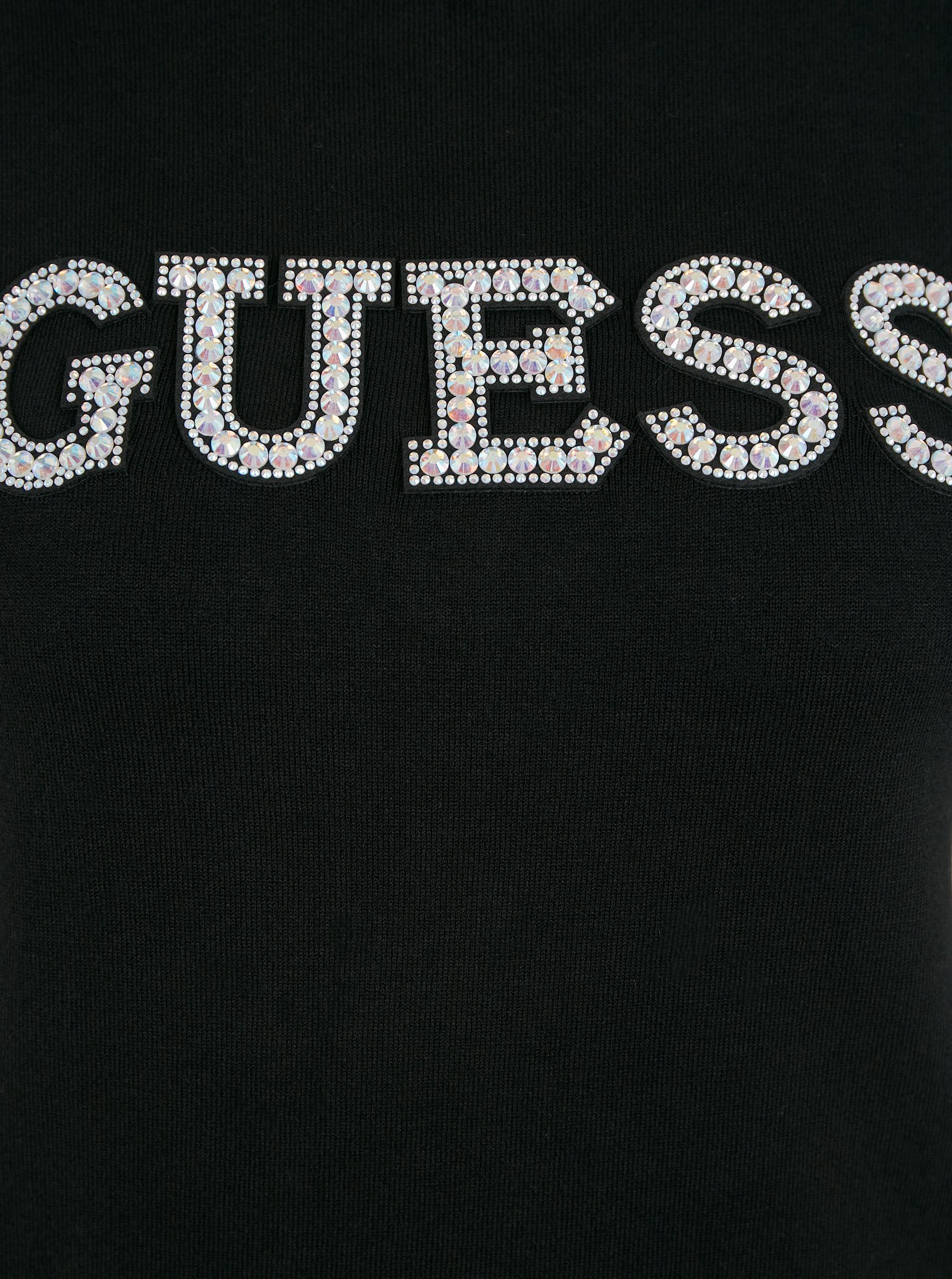 Guess černé tričko Guess Clarisse