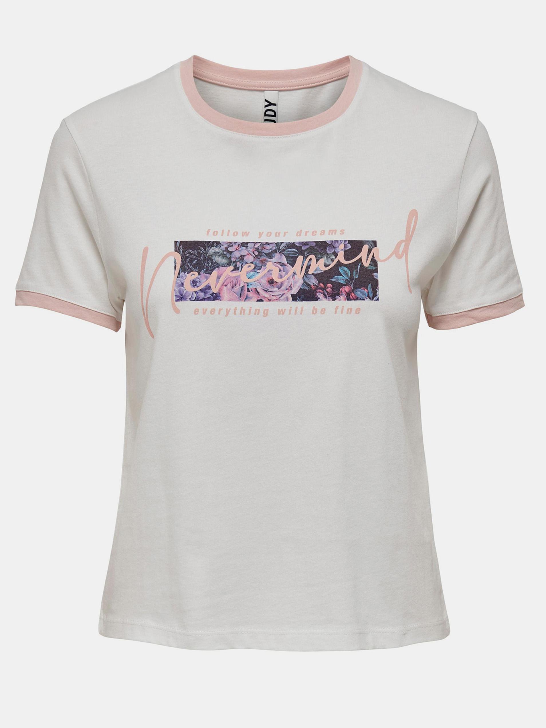 Jacqueline de Yong bílé tričko Nuka s potiskem