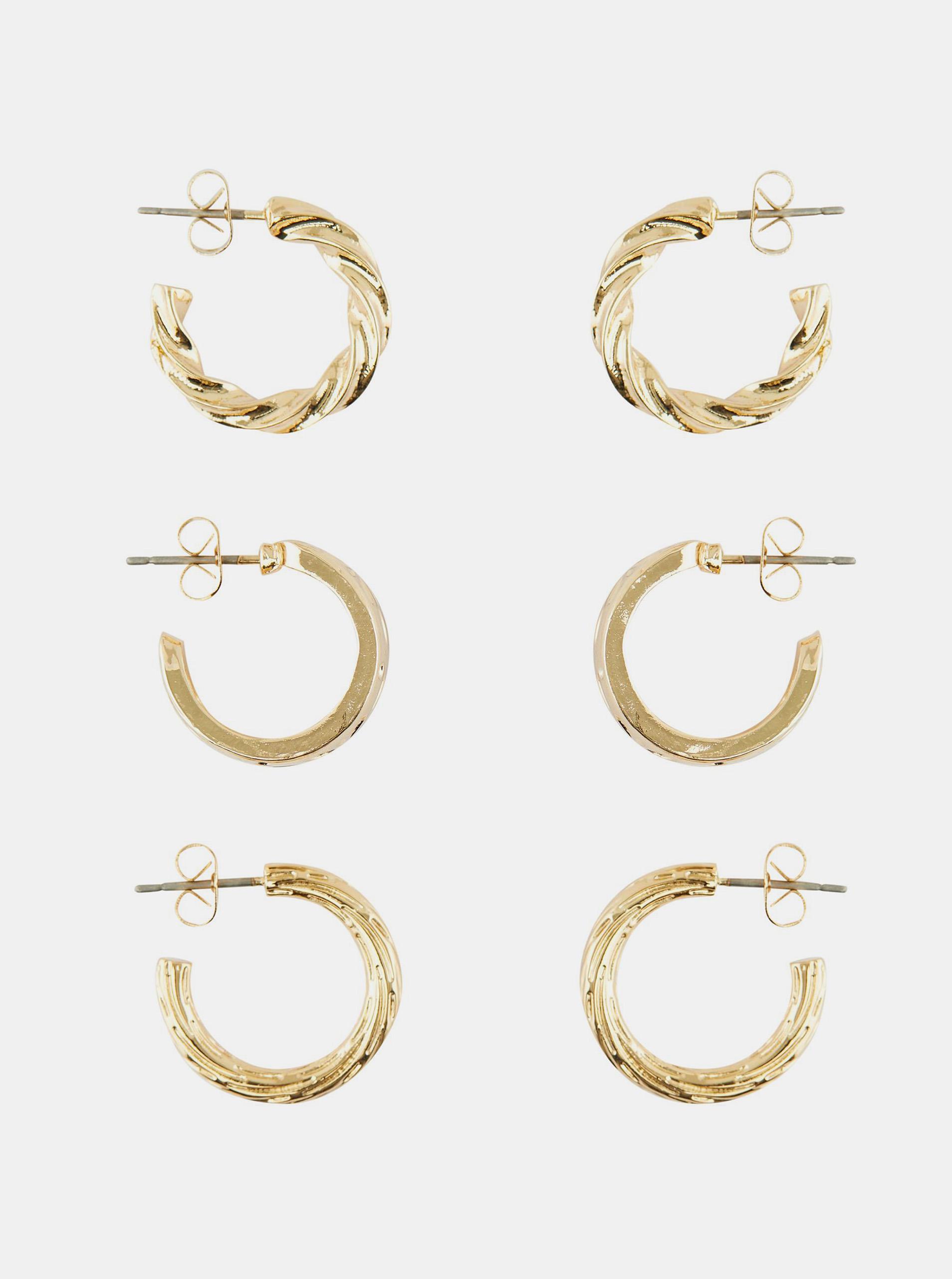 Pieces zlaté náušnice Toopa