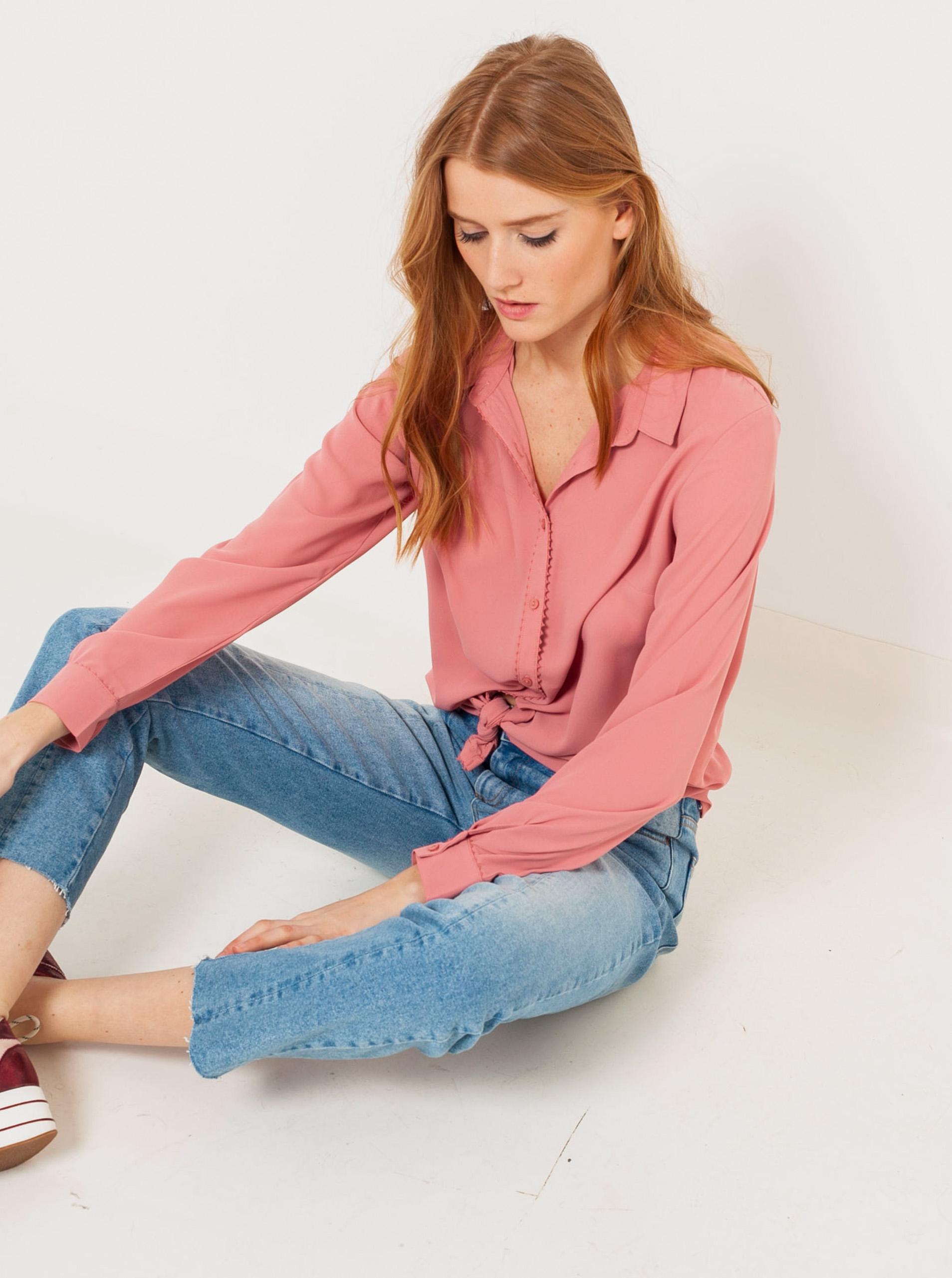 Růžová košile CAMAIEU - M