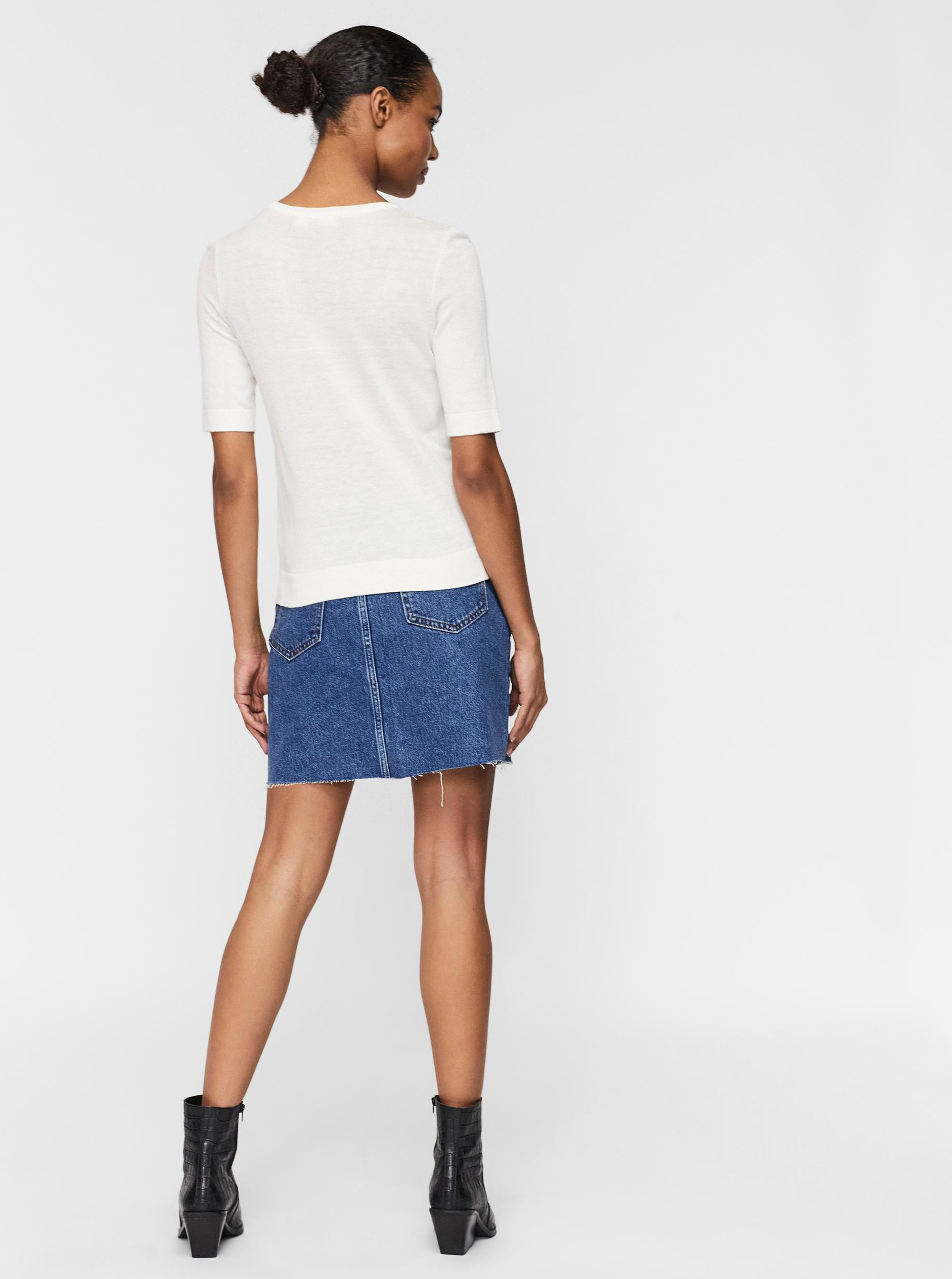 Vero Moda smetanové/krémové tričko Silke