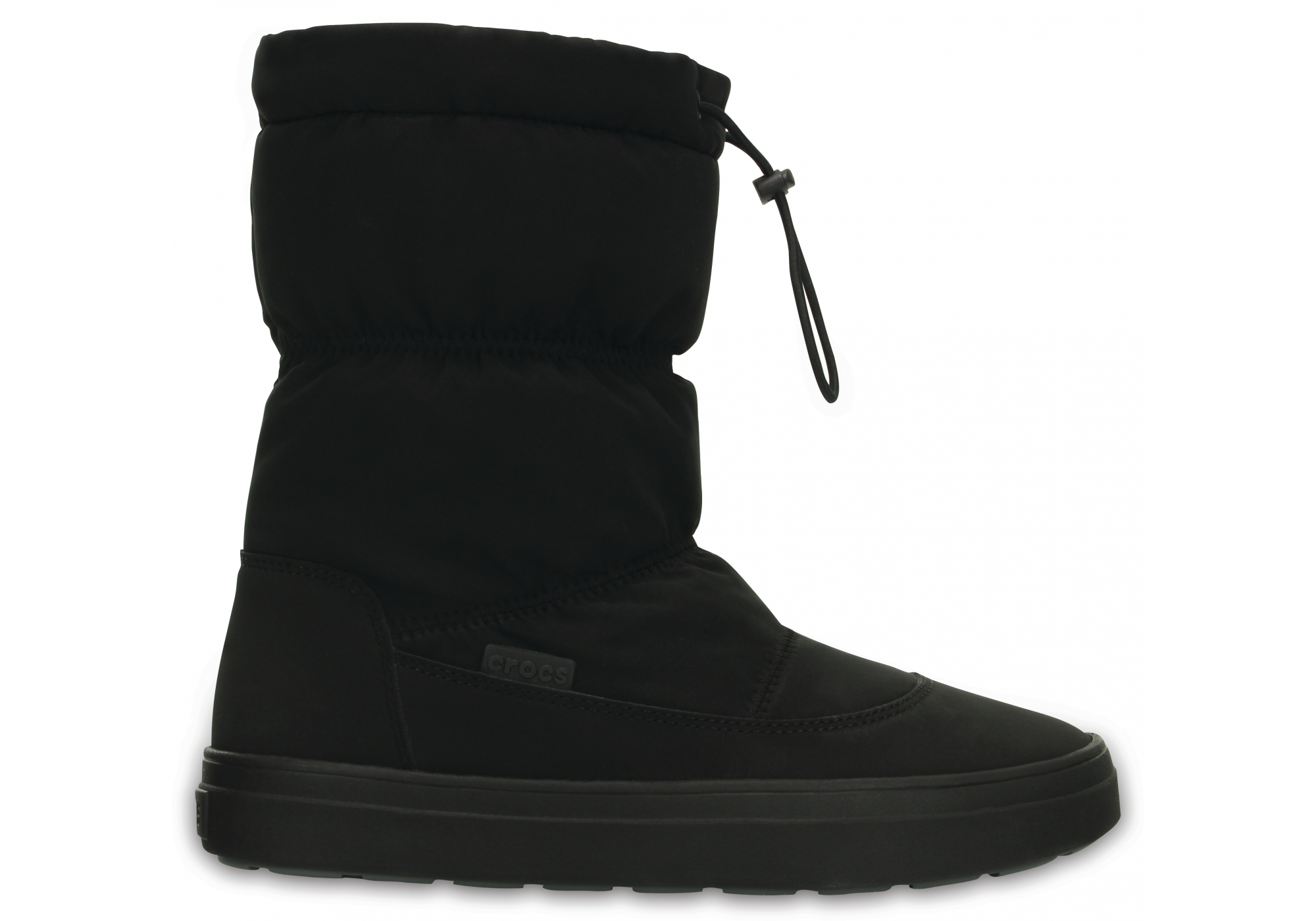 Crocs černé sněhule Lodgepoint Pull-on Boot Black - W6