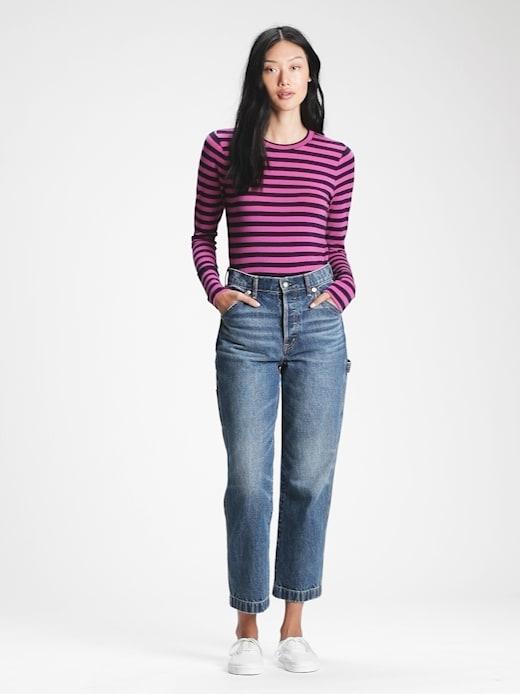 Fialové dámské tričko GAP