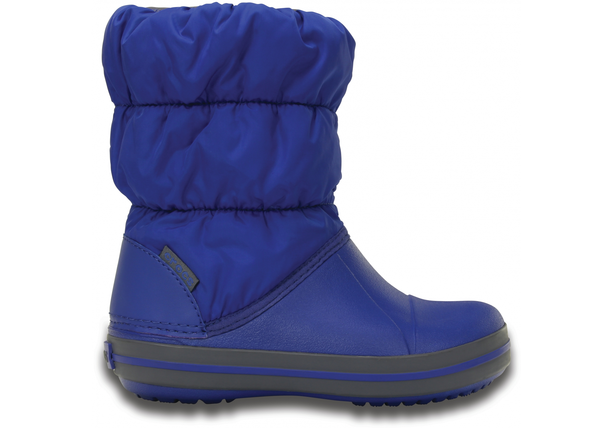 Crocs modré sněhule Winter Puff Boot Kids Cerulean Blue - C8
