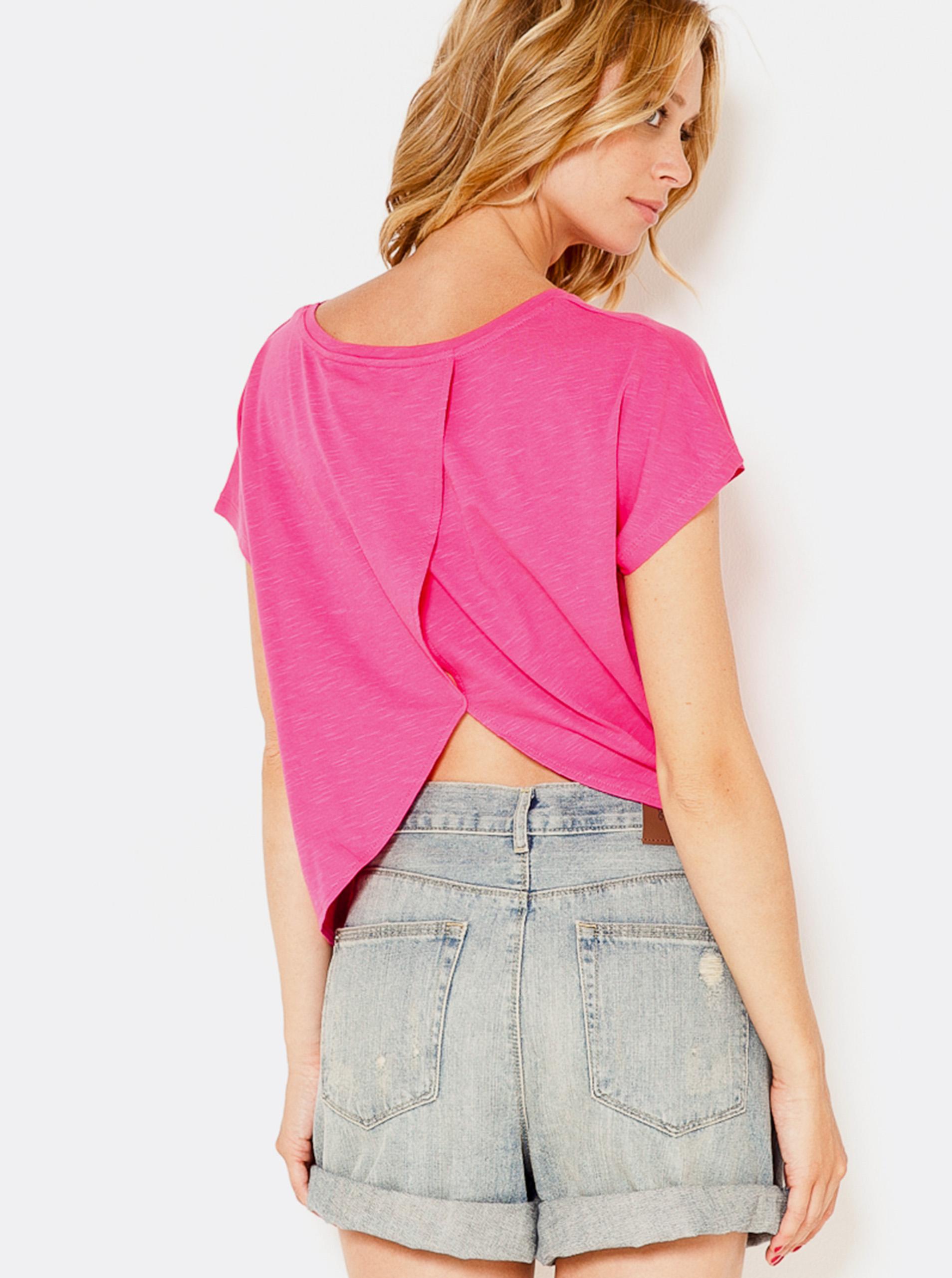 CAMAIEU růžové dámské tričko
