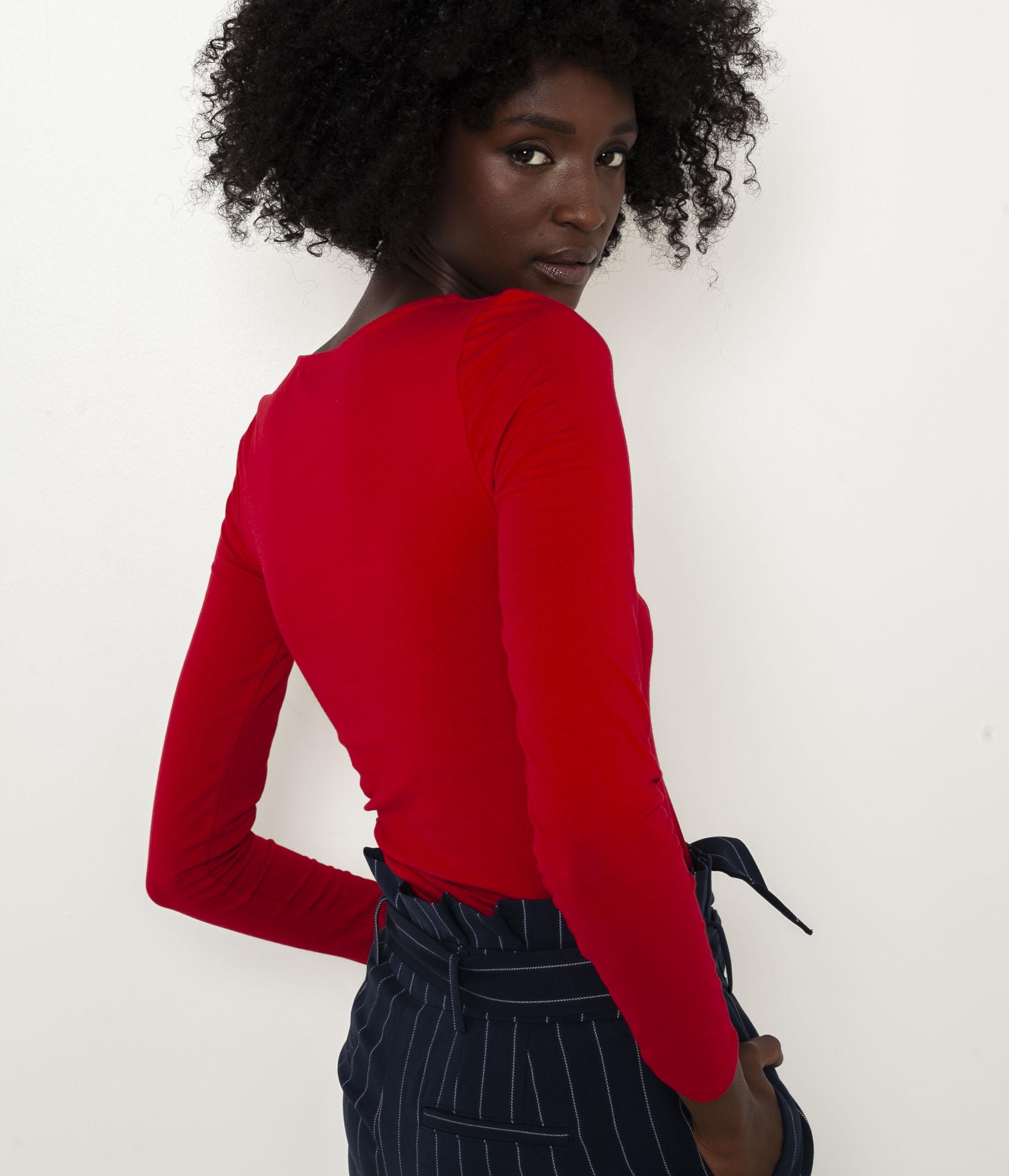 Červené basic tričko CAMAIEU
