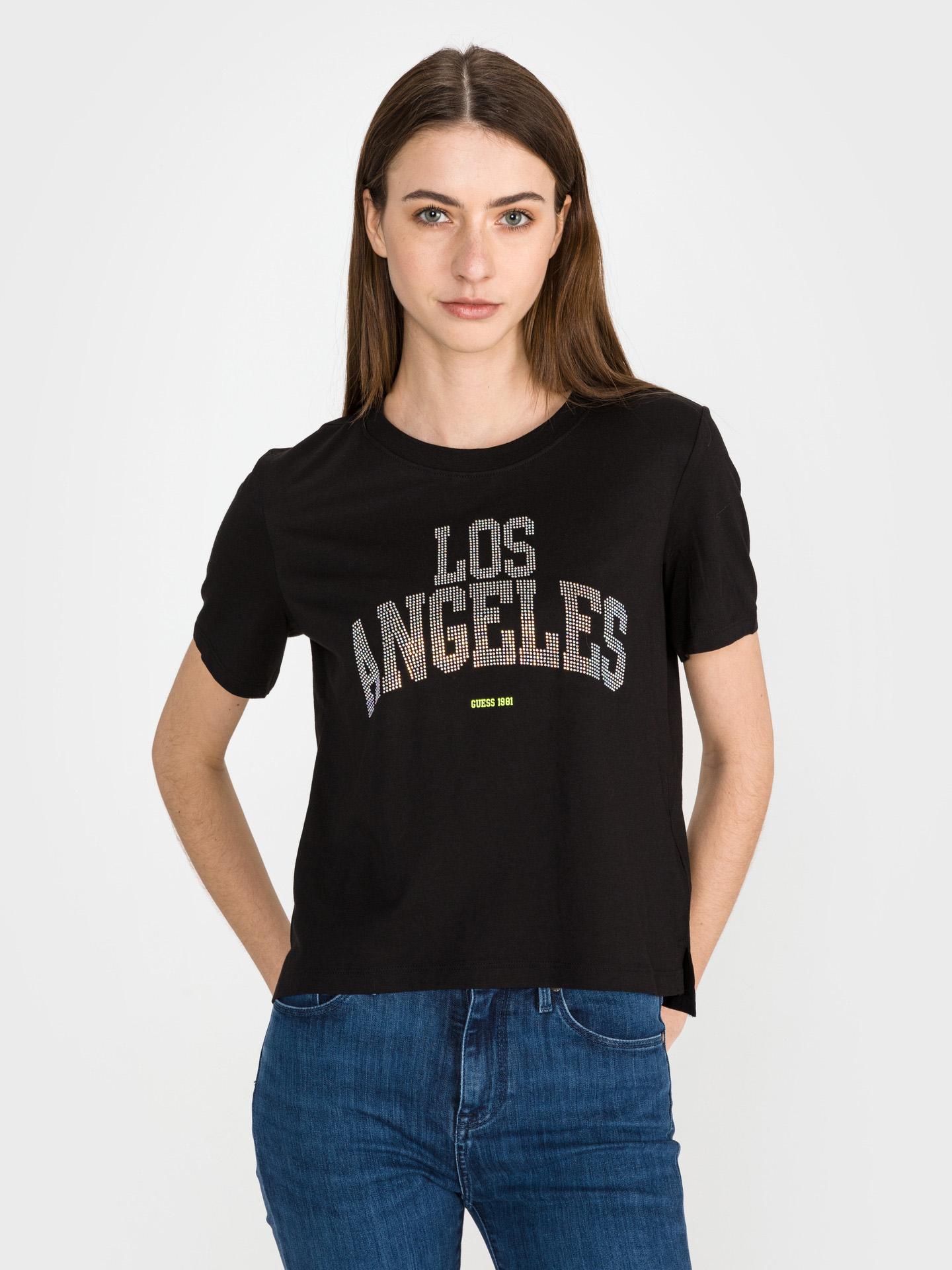 Guess černé tričko Glam