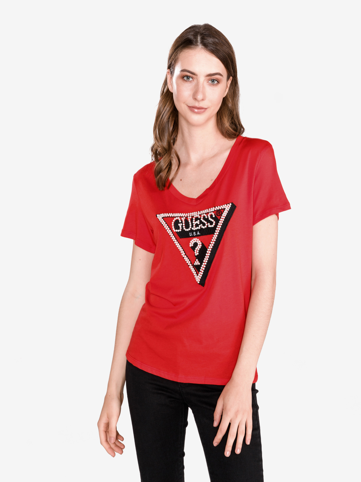Guess červené tričko