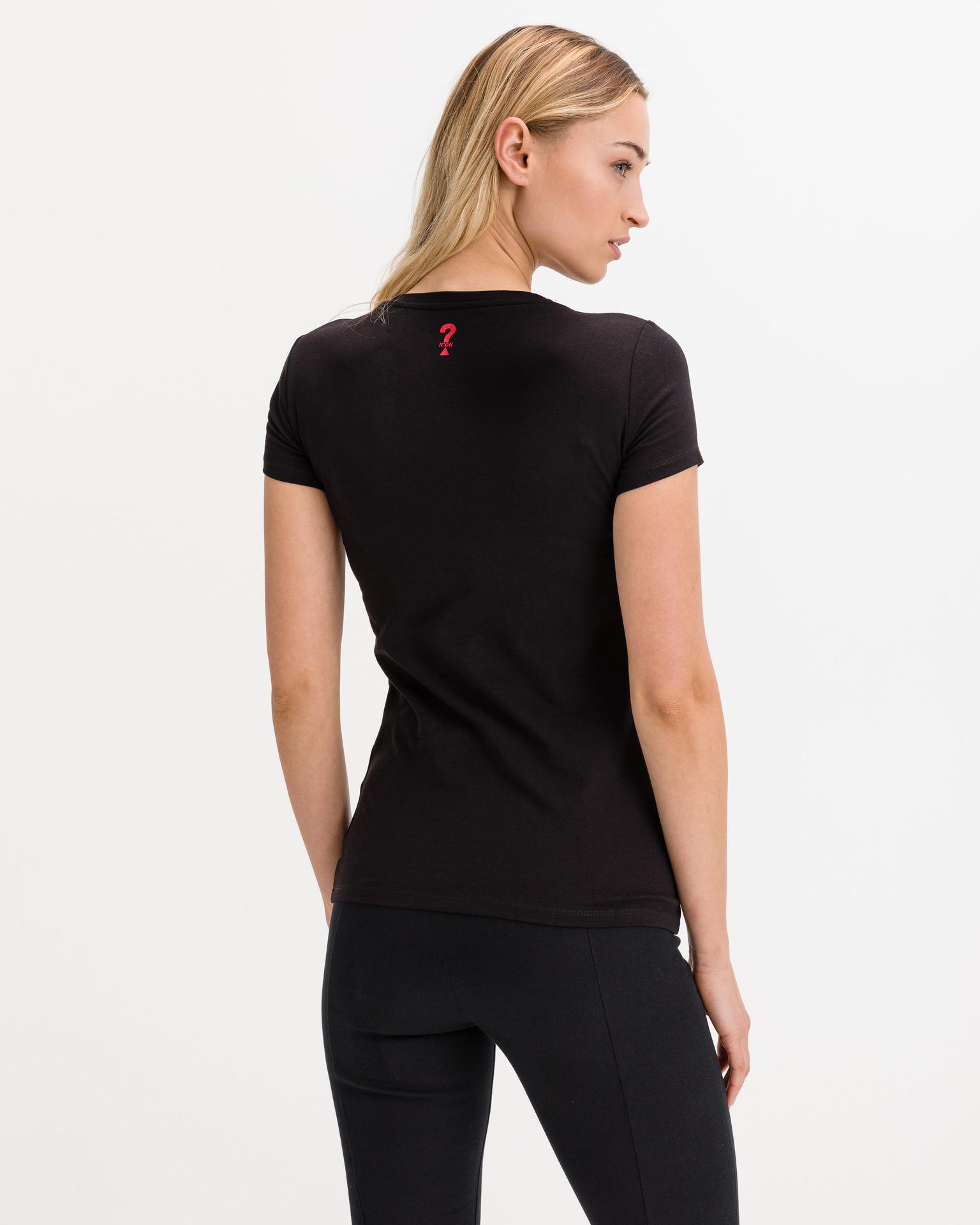 Guess černé tričko Mini Triangle
