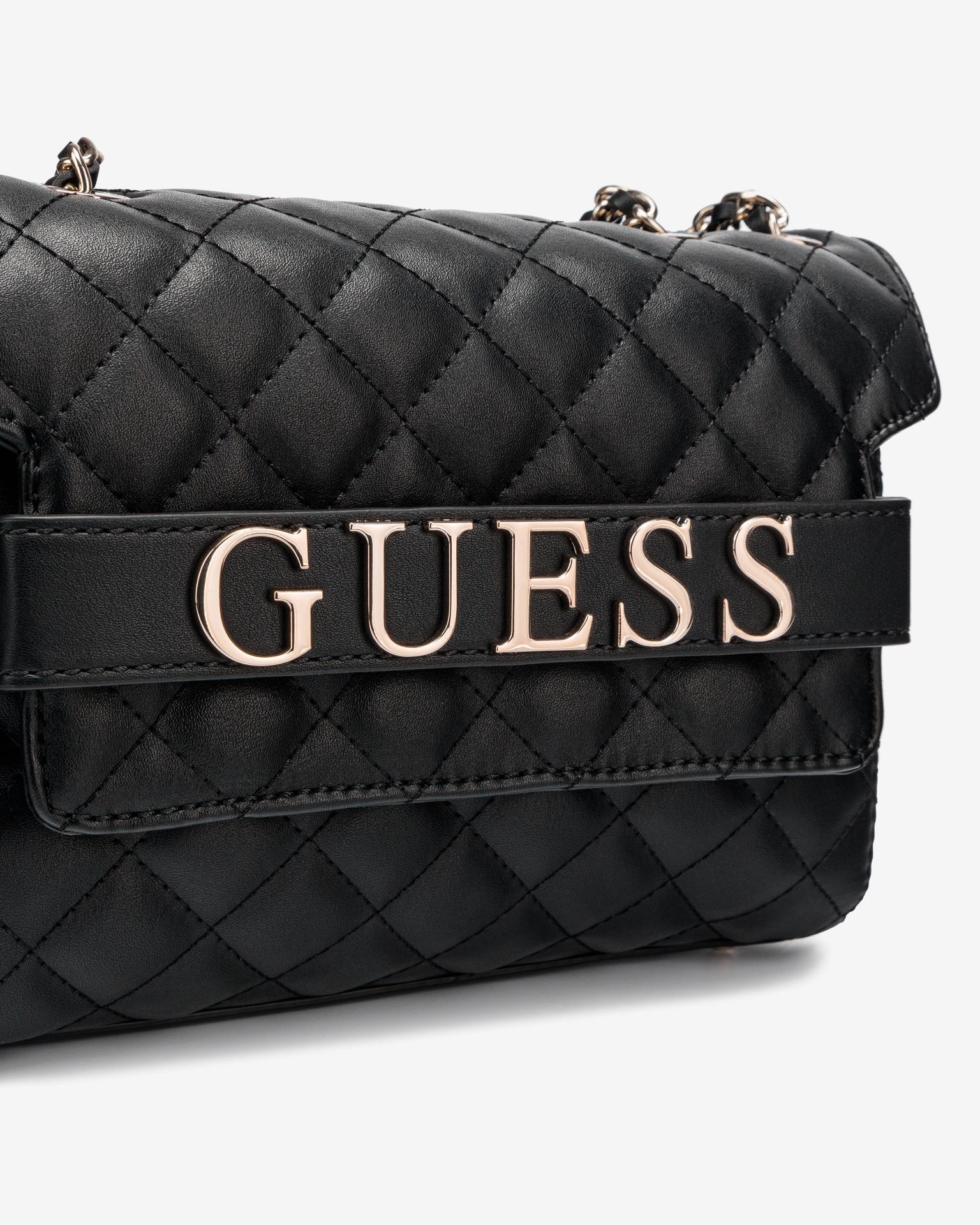 Guess černé crossbody kabelka Illy Convertibe