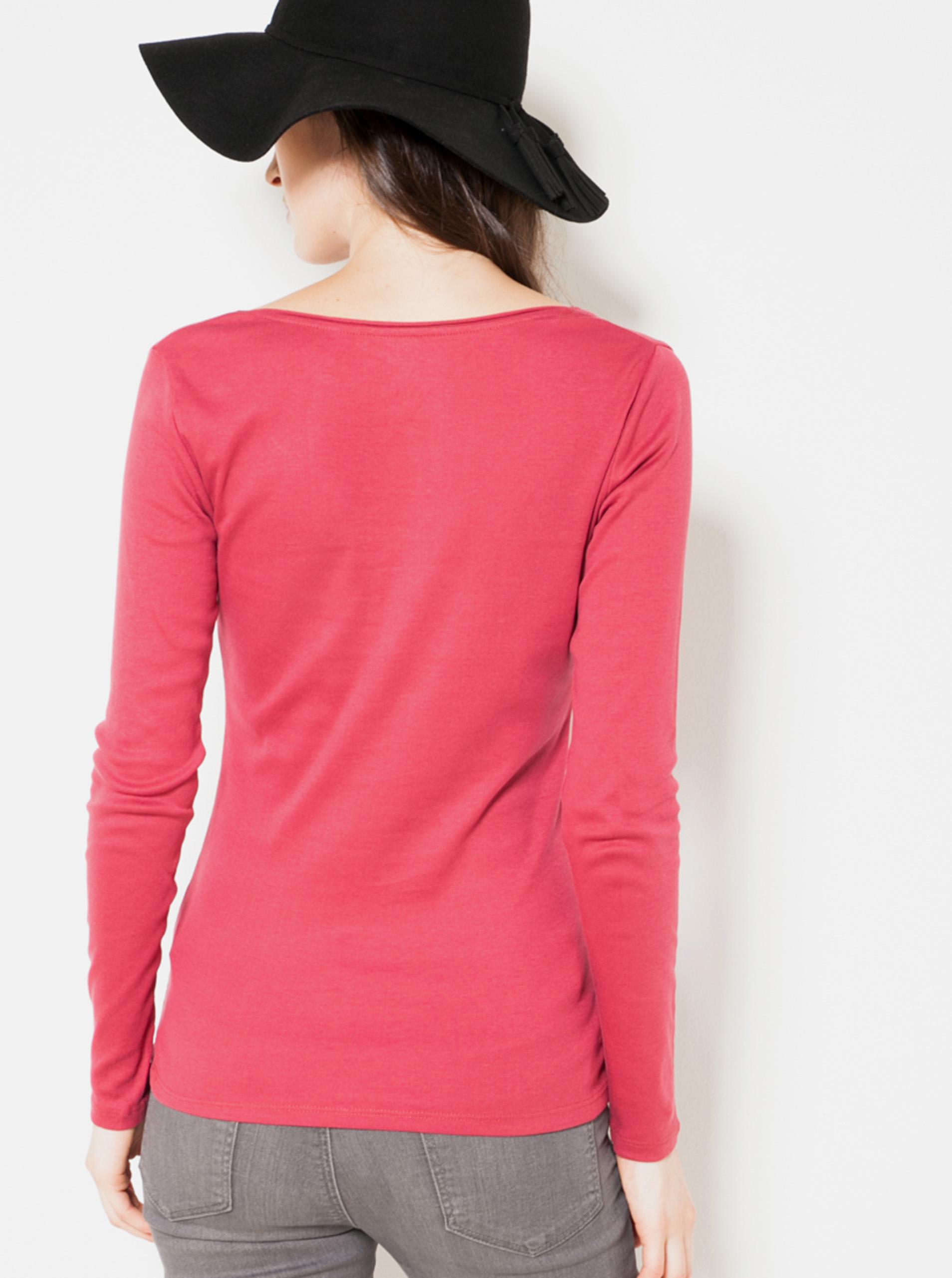 CAMAIEU červené basic tričko