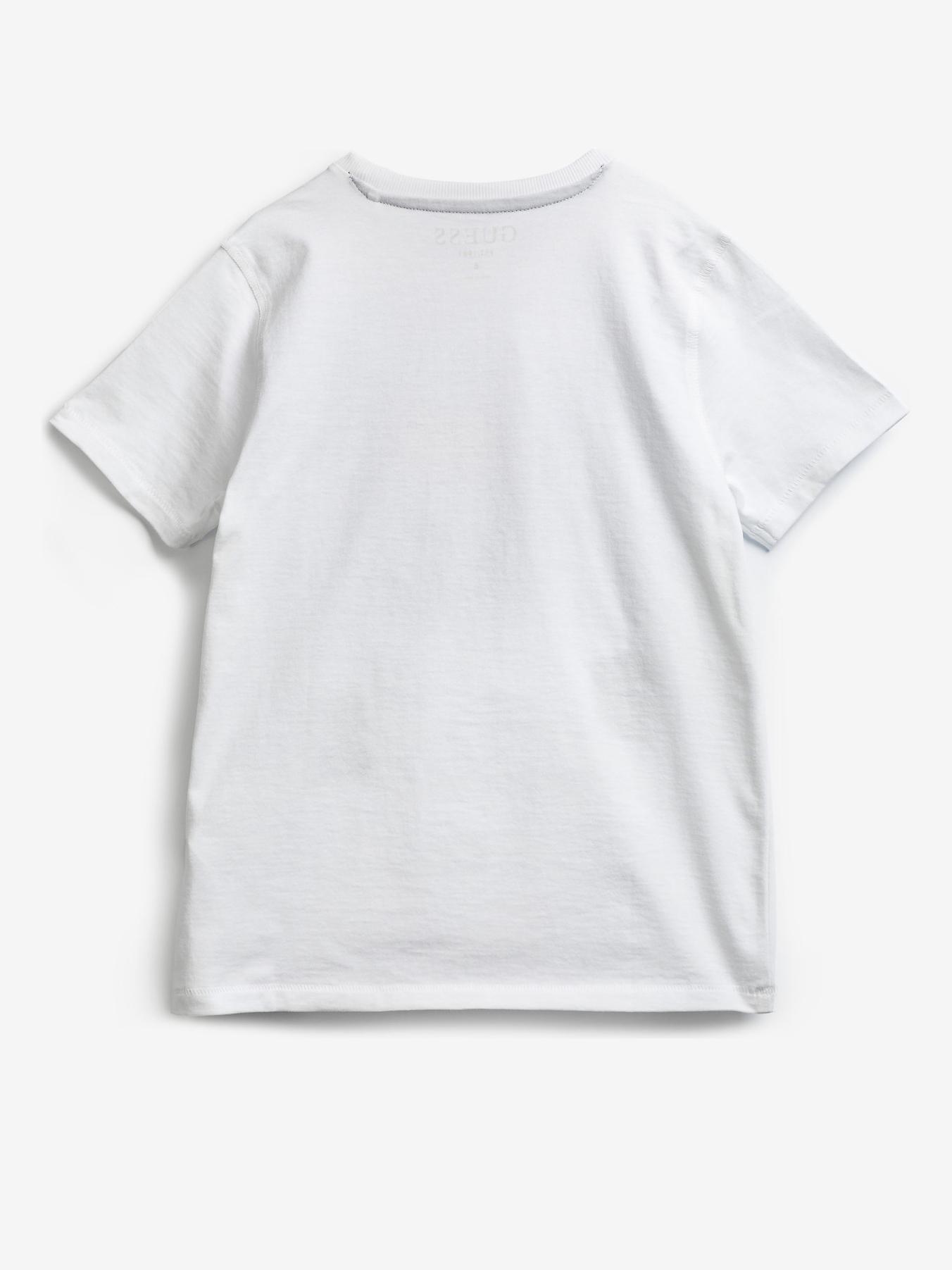 Guess Embroidery Front Logo Triko dětské Bílá