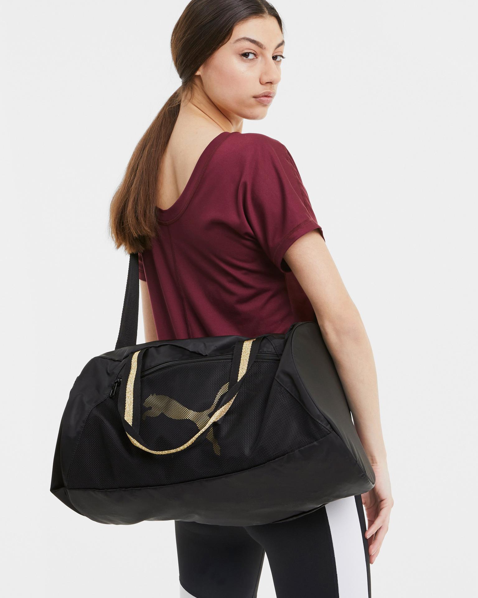 Puma černé cestovní taška AT ESS Barrel